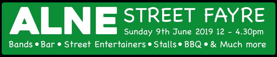 Alne Street Fayre, site logo.