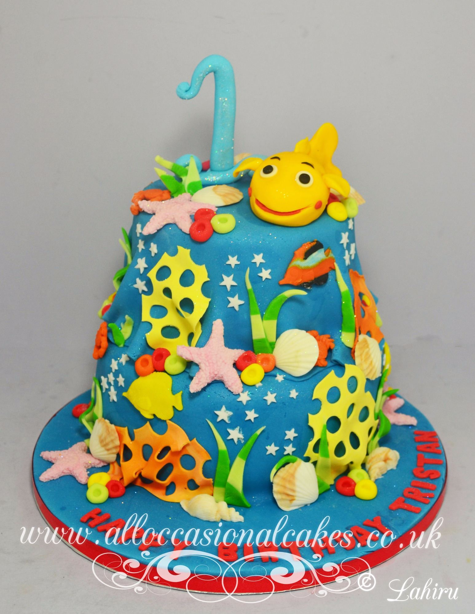 under the sea 1 birthday cake