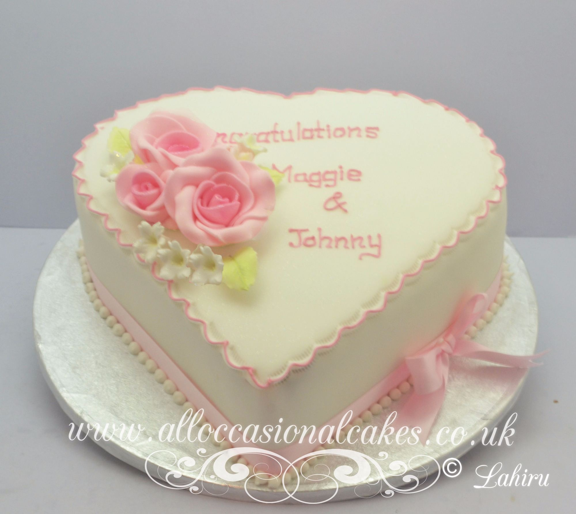 Images Of Heart Shape Cake Designs : Image Gallery heart shaped anniversary cakes