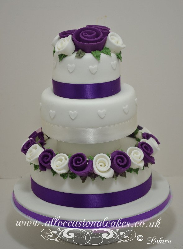 cadbury purple wedding cakes