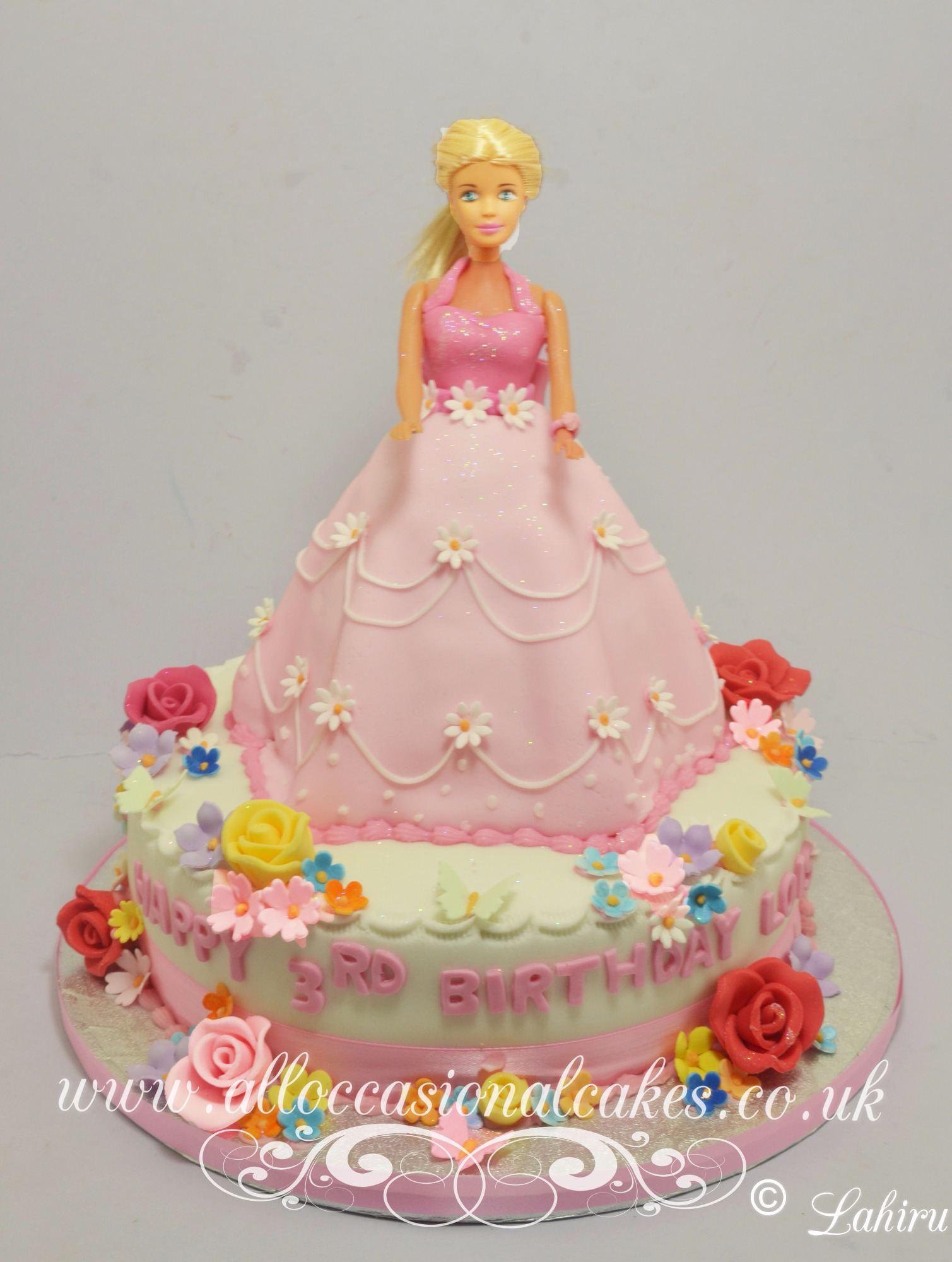 princess themed birthday cake