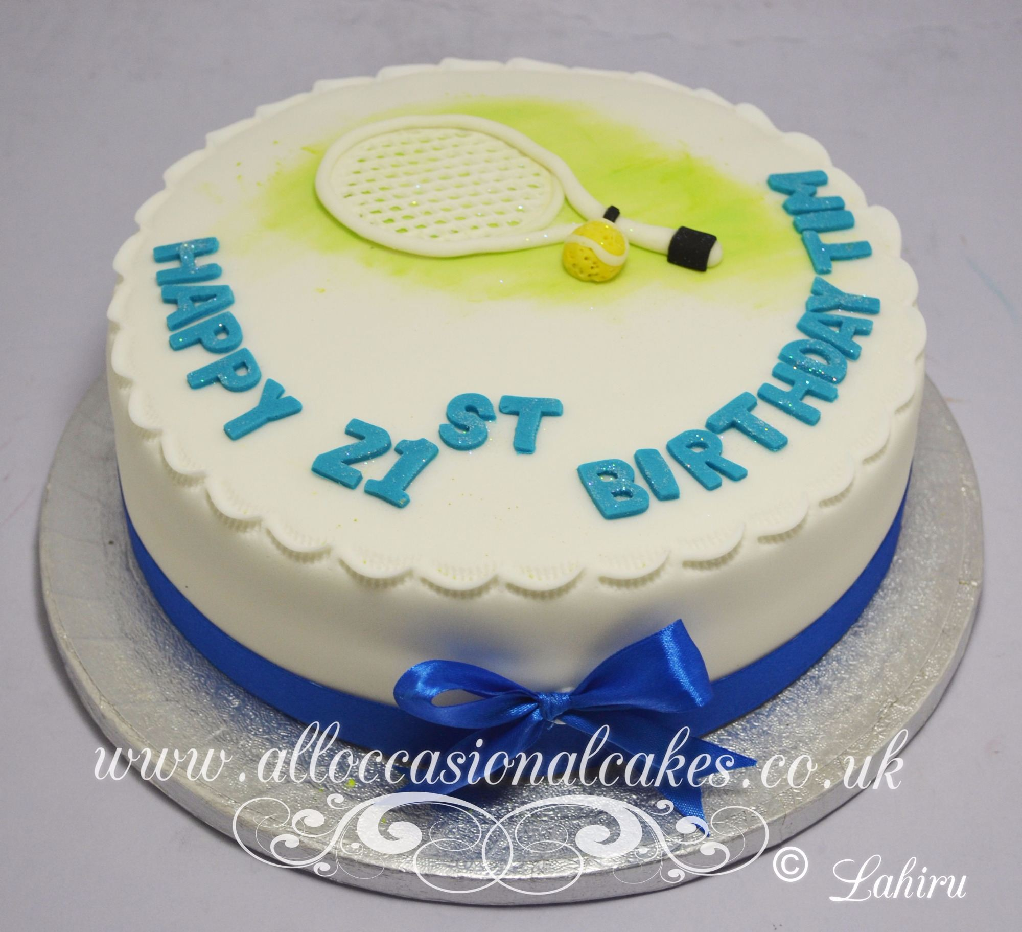 tennis racket birthday cake