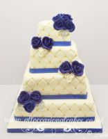 all tier in diamond design wedding cake