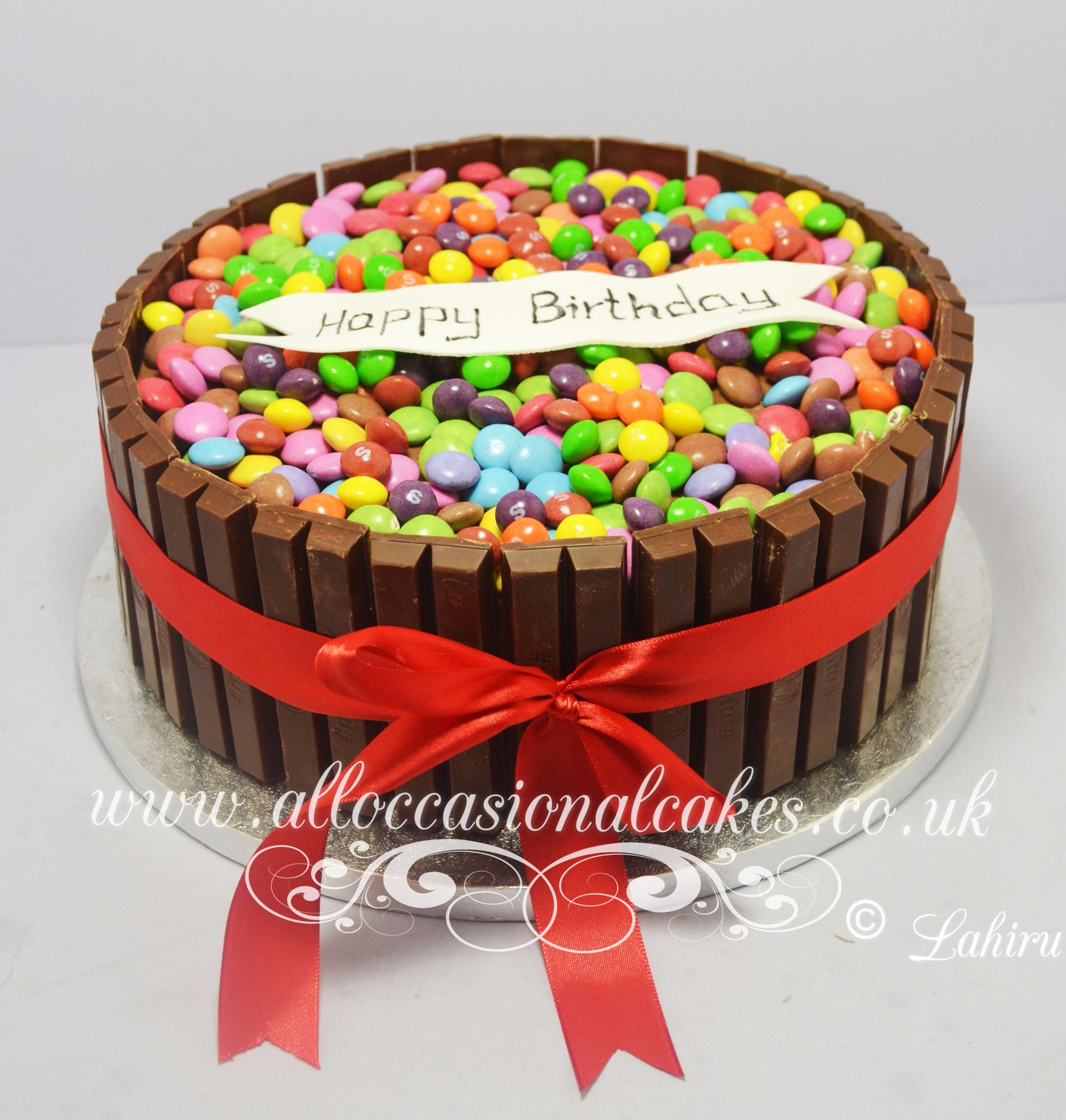 smarties birthday cake