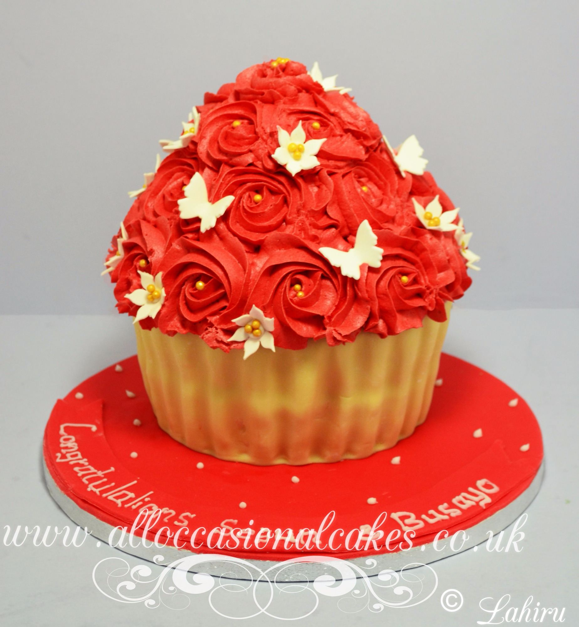 Red Rose Giant Cupcake 60