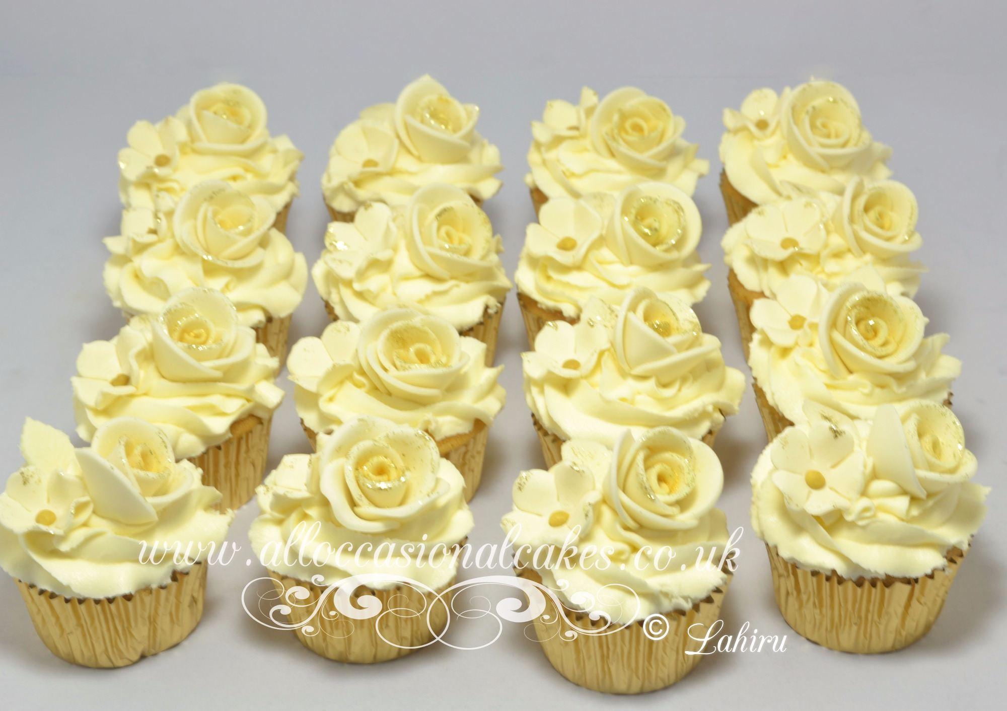 ivory rose cupcake