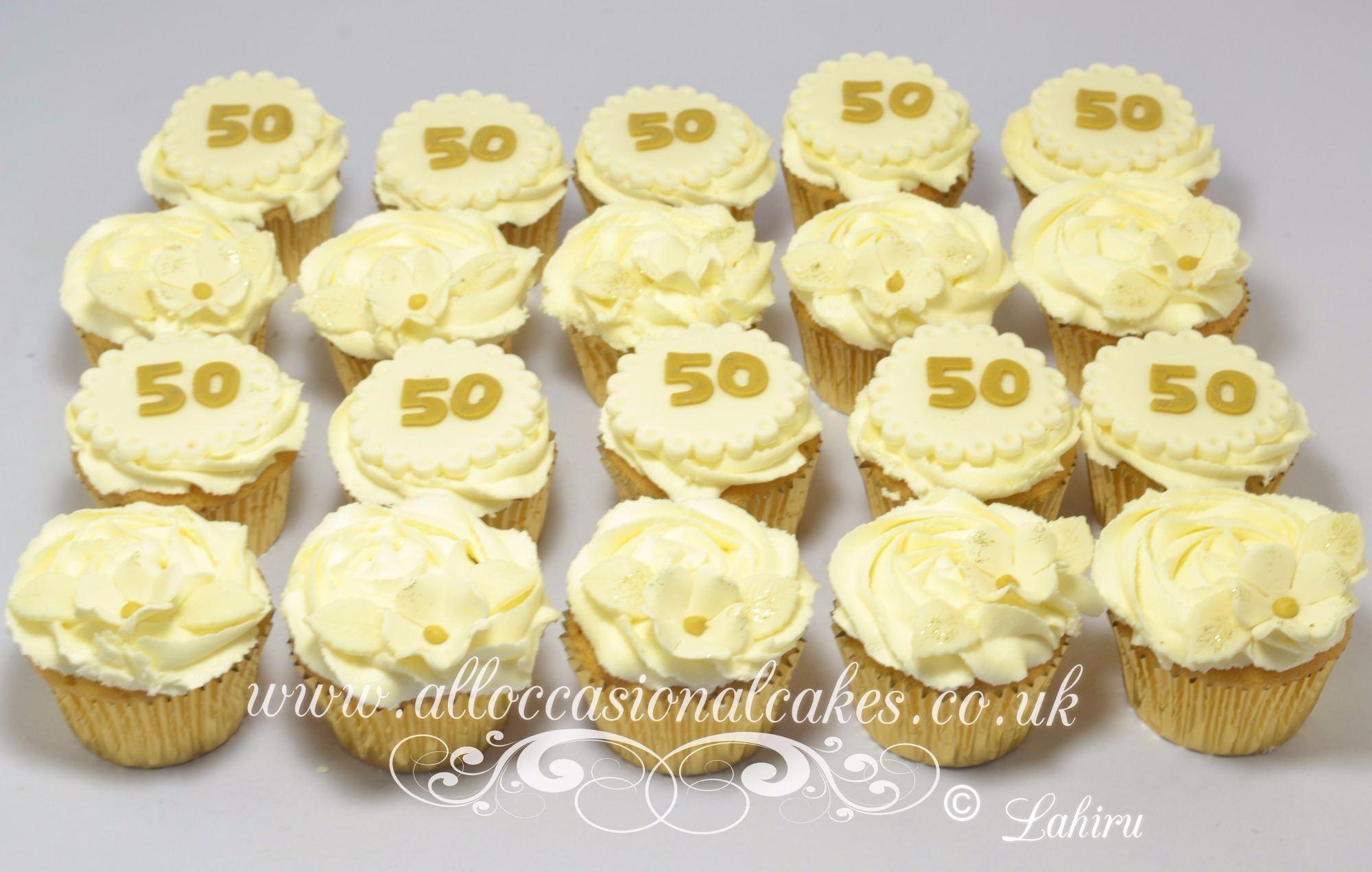 50th anniversary cupcake