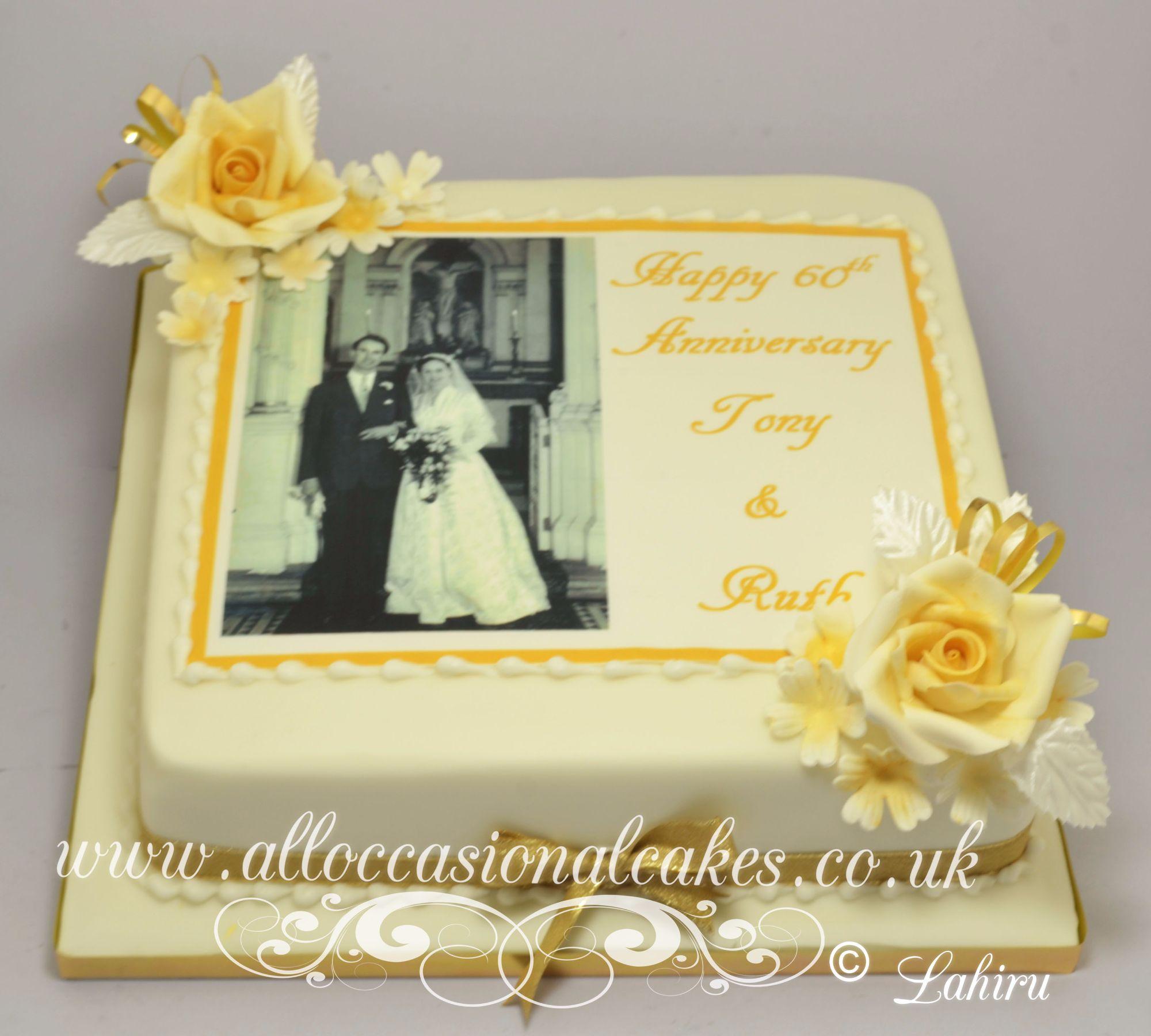 edible picture anniversary cake