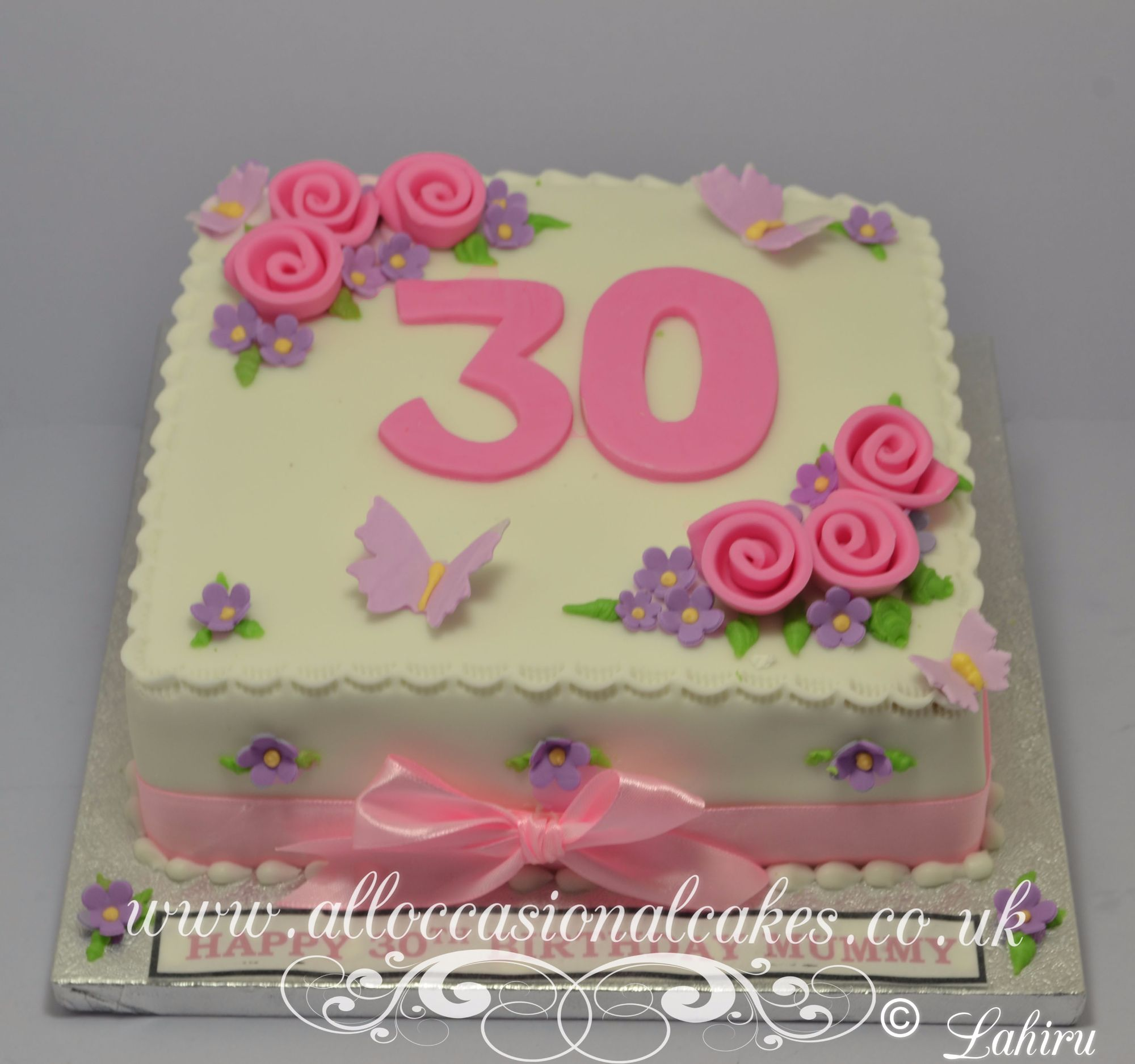Pastel Colour Birthday Cake