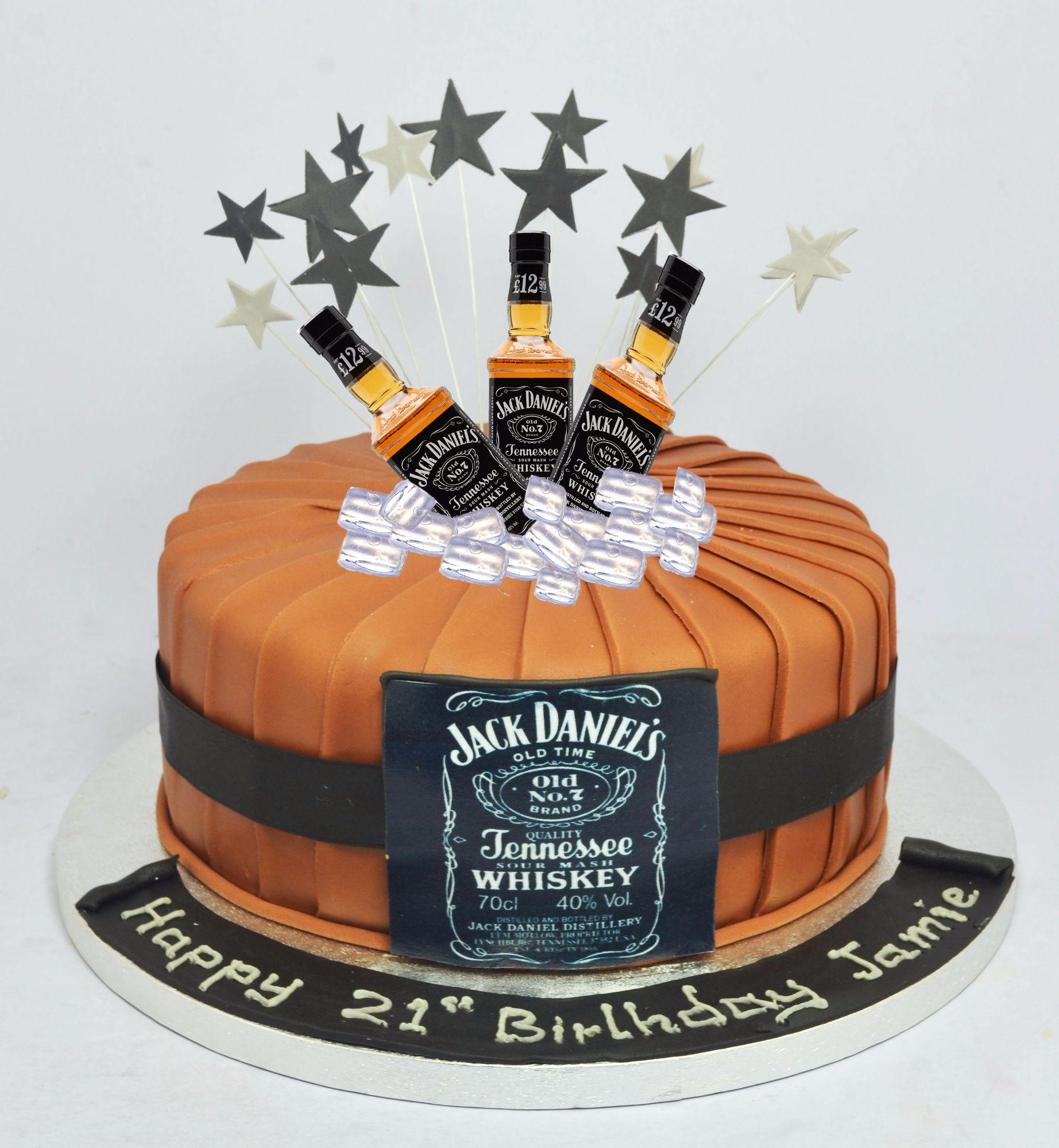 jack daniels themed cake