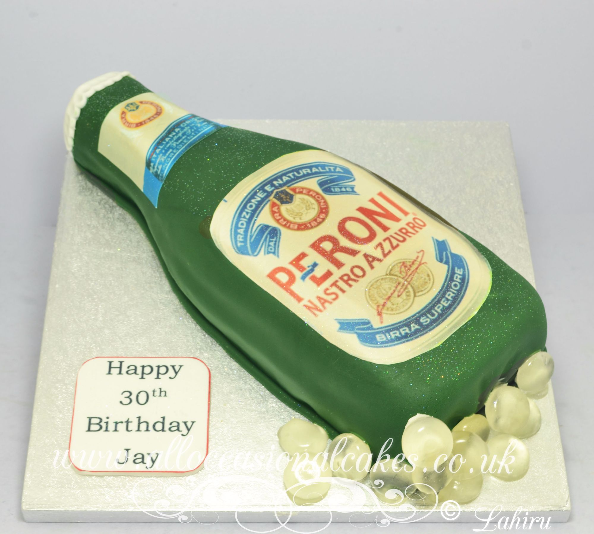 peroni bottle birthday cake