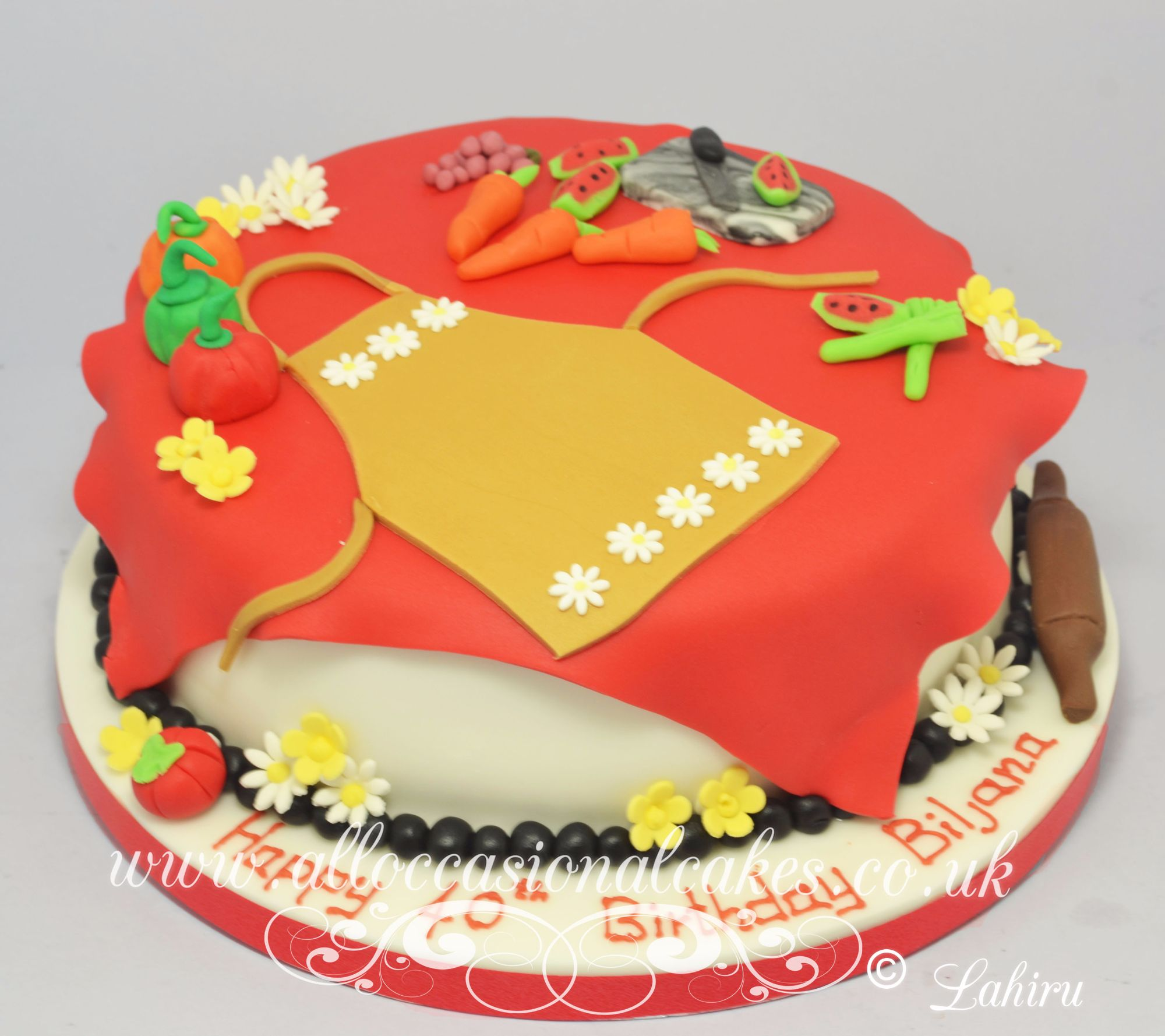 cooking themed cake