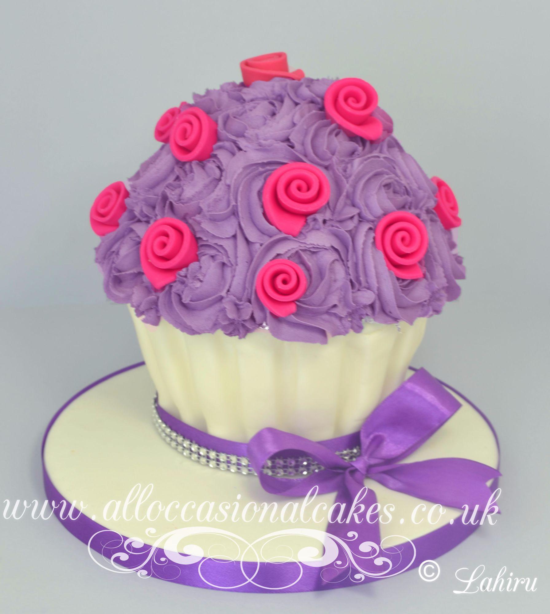 lilac giant cupcake