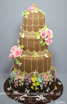 chocolate colour birdcage