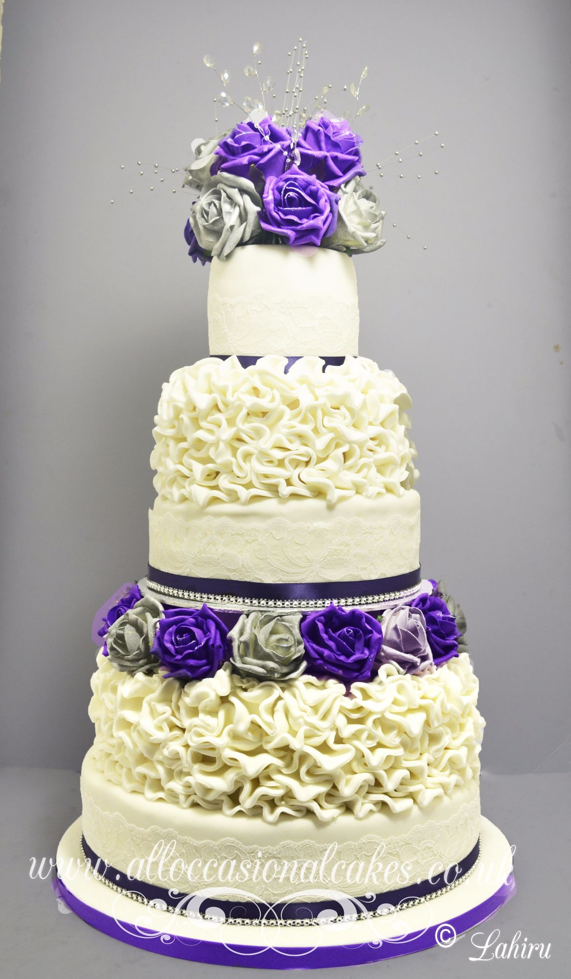 lilac rose ruffle wedding cake bristol