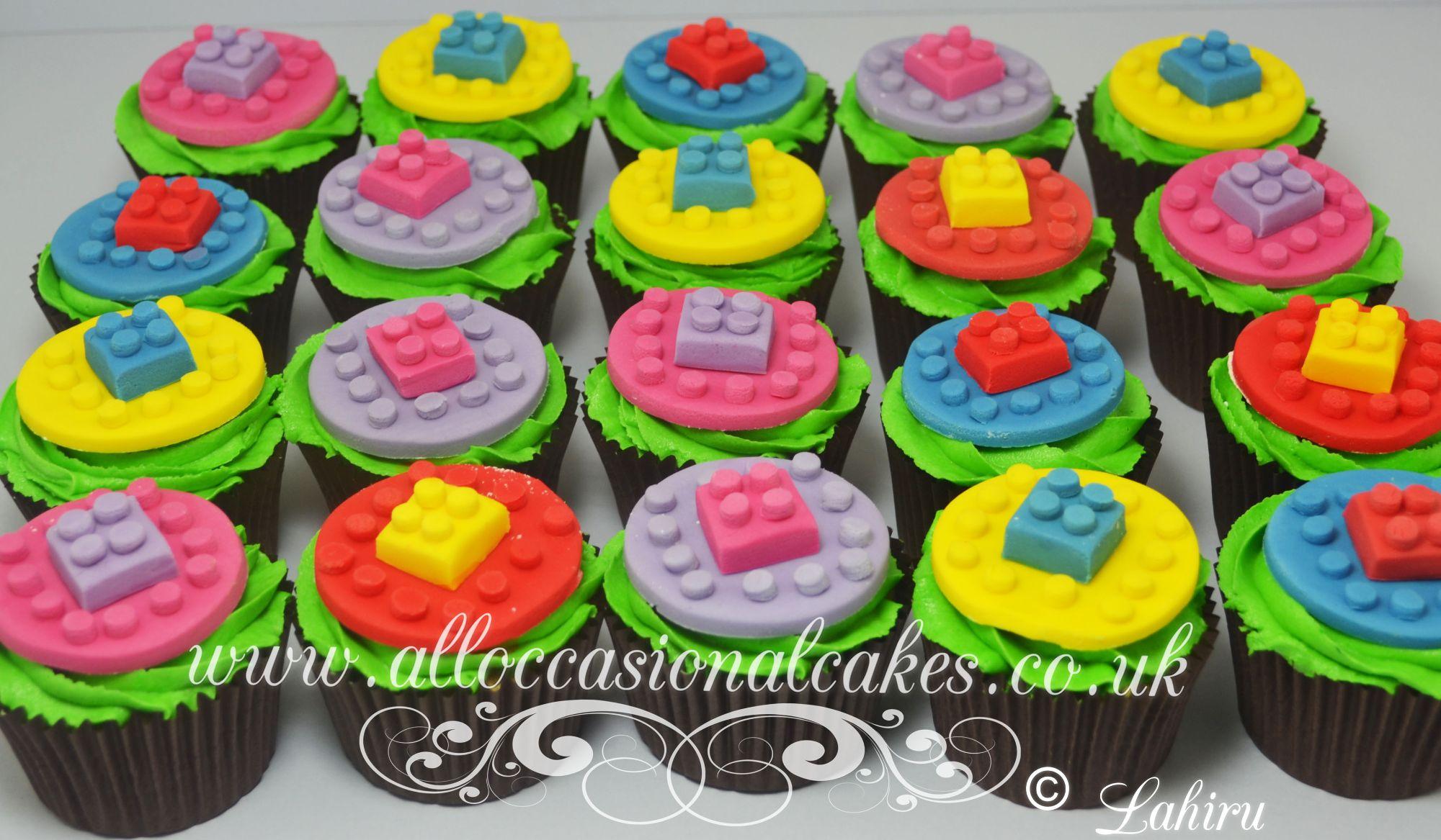 lego themed cupcake