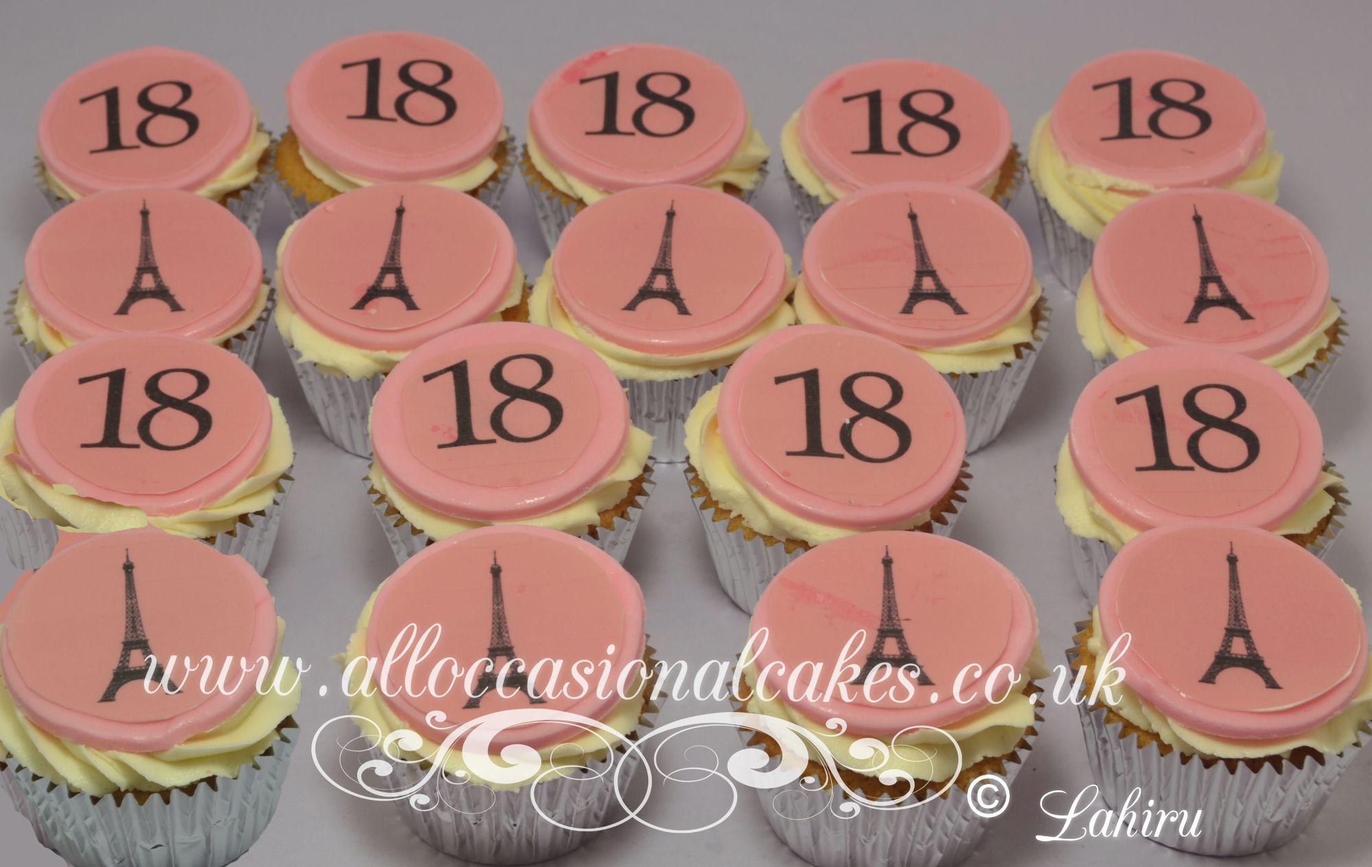 paris themed cupcake