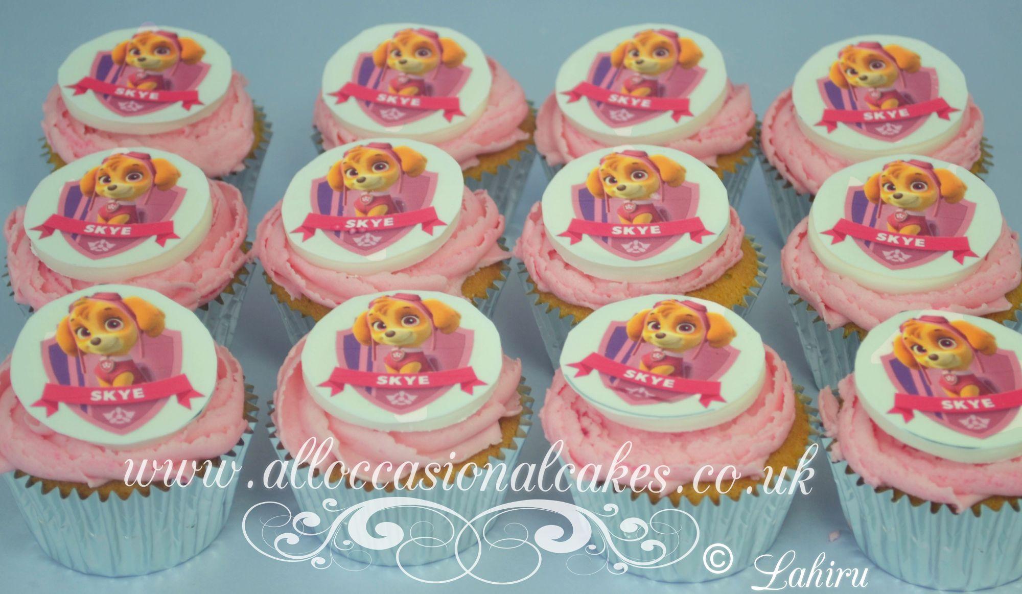 paw patrol themed cupcake