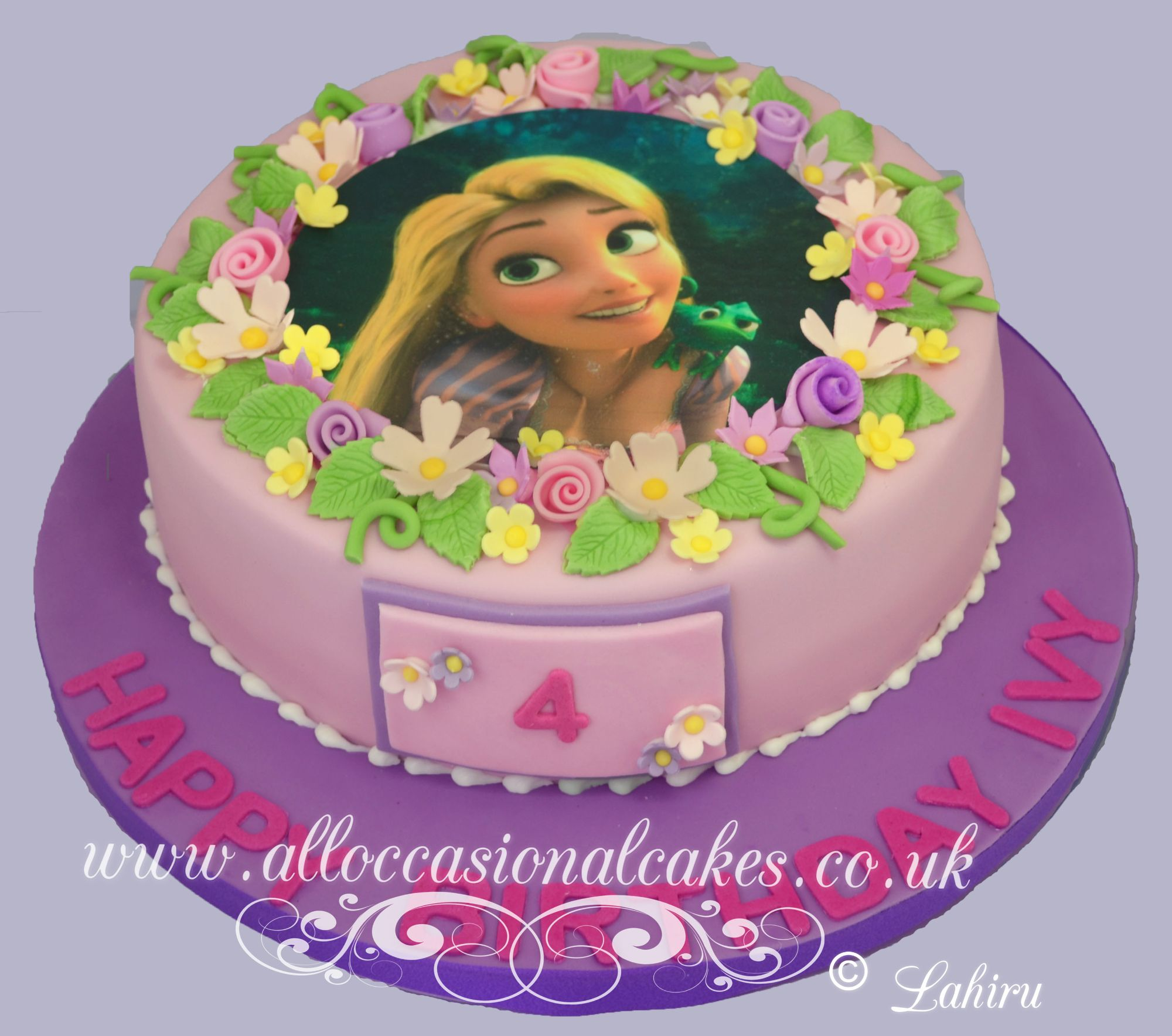 princess rapunzel birthday cake