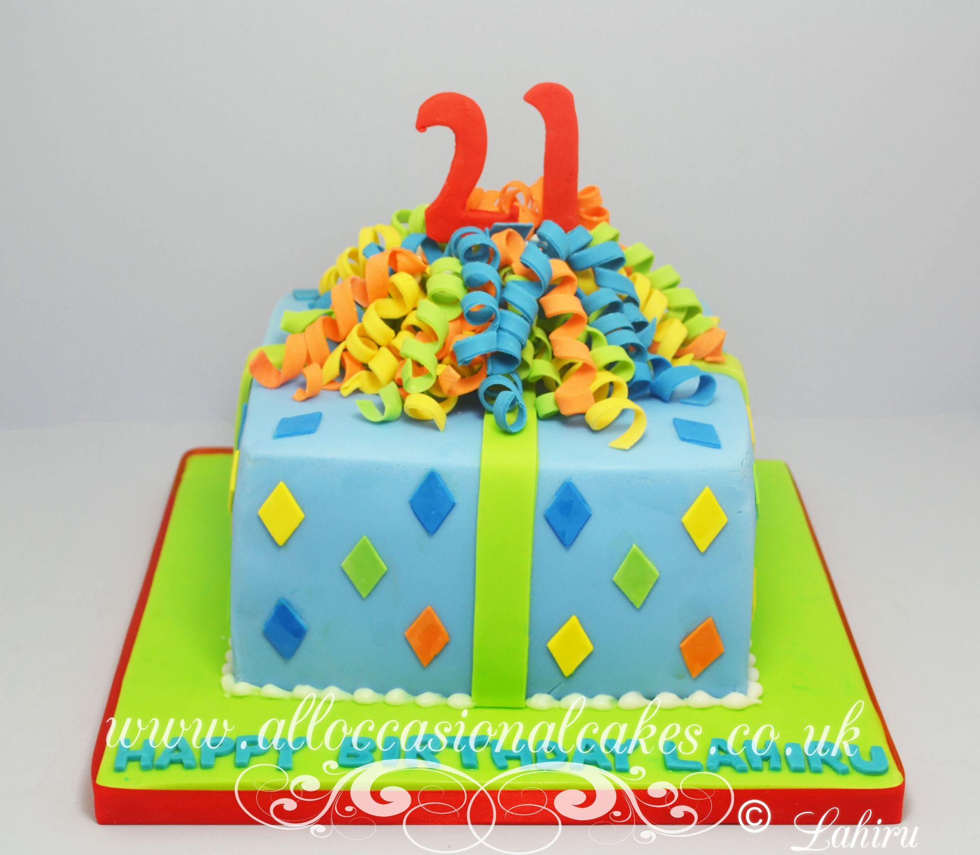 parcel birthday cake