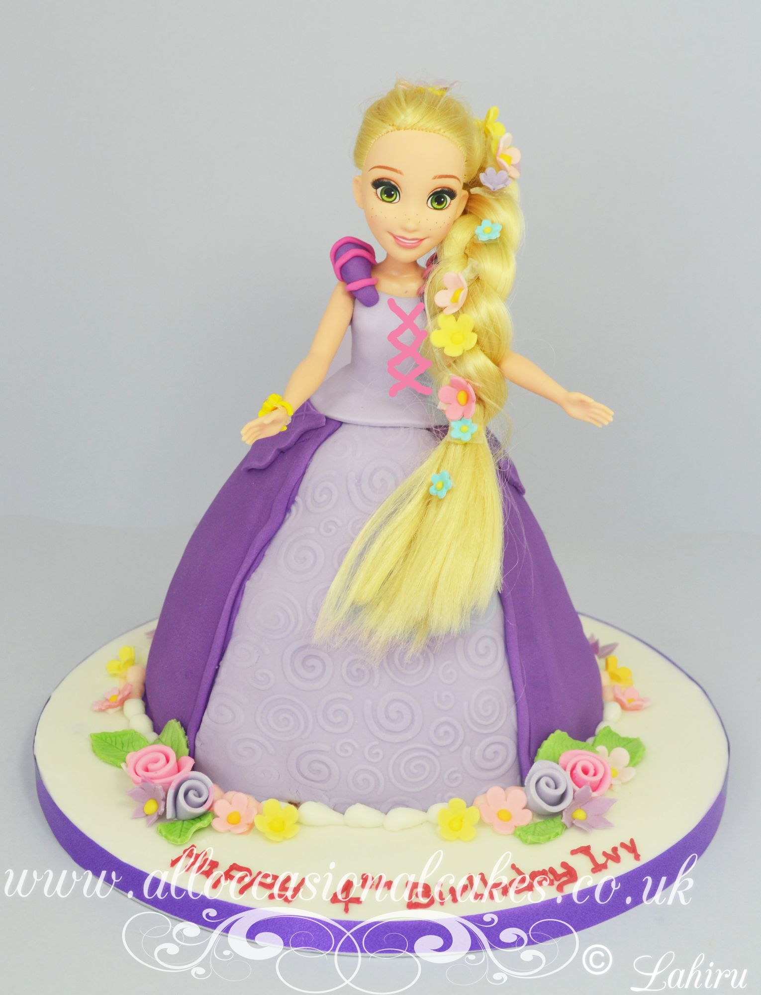 rapunzel themed cake