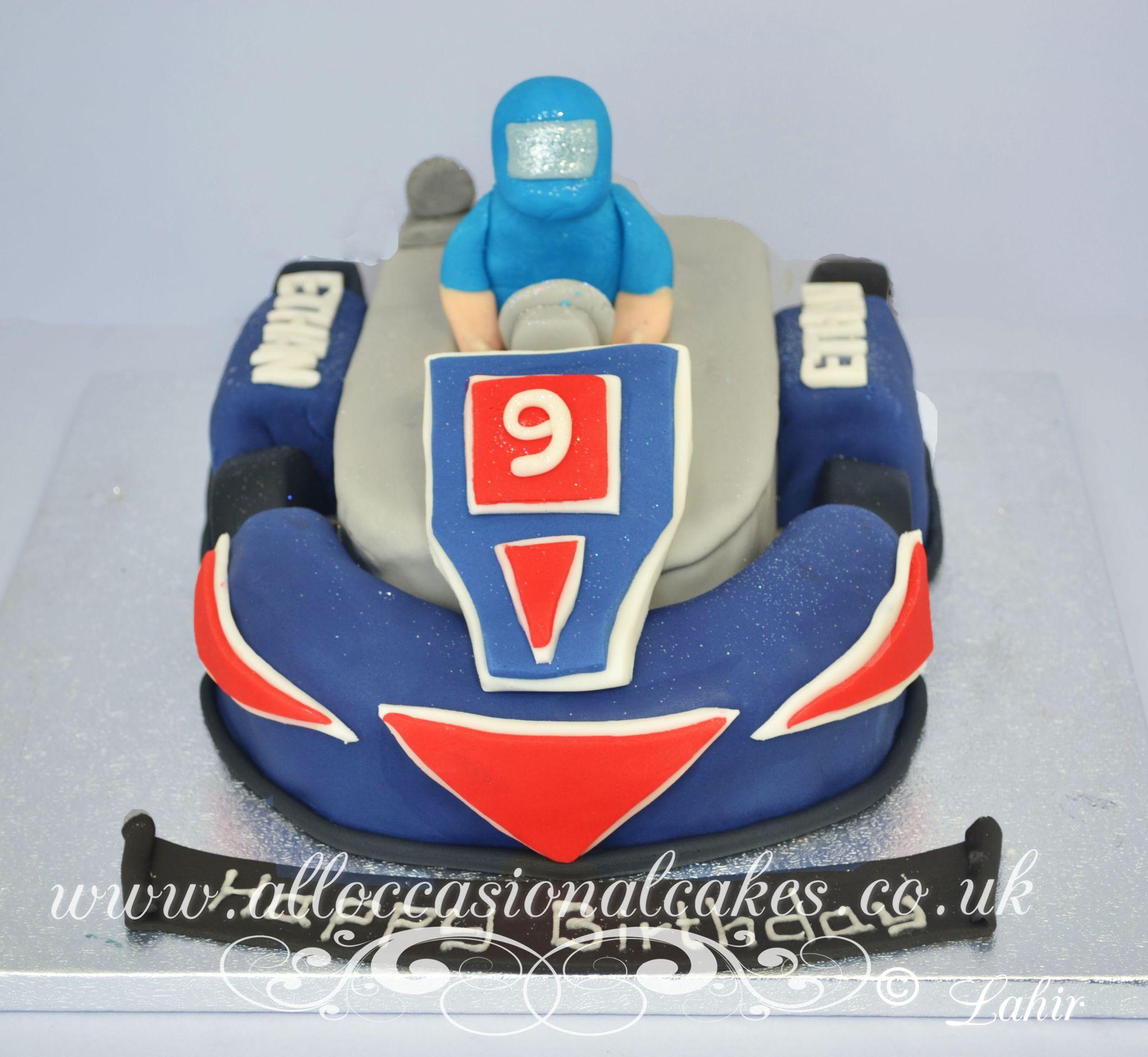 go kart themed birthday cake