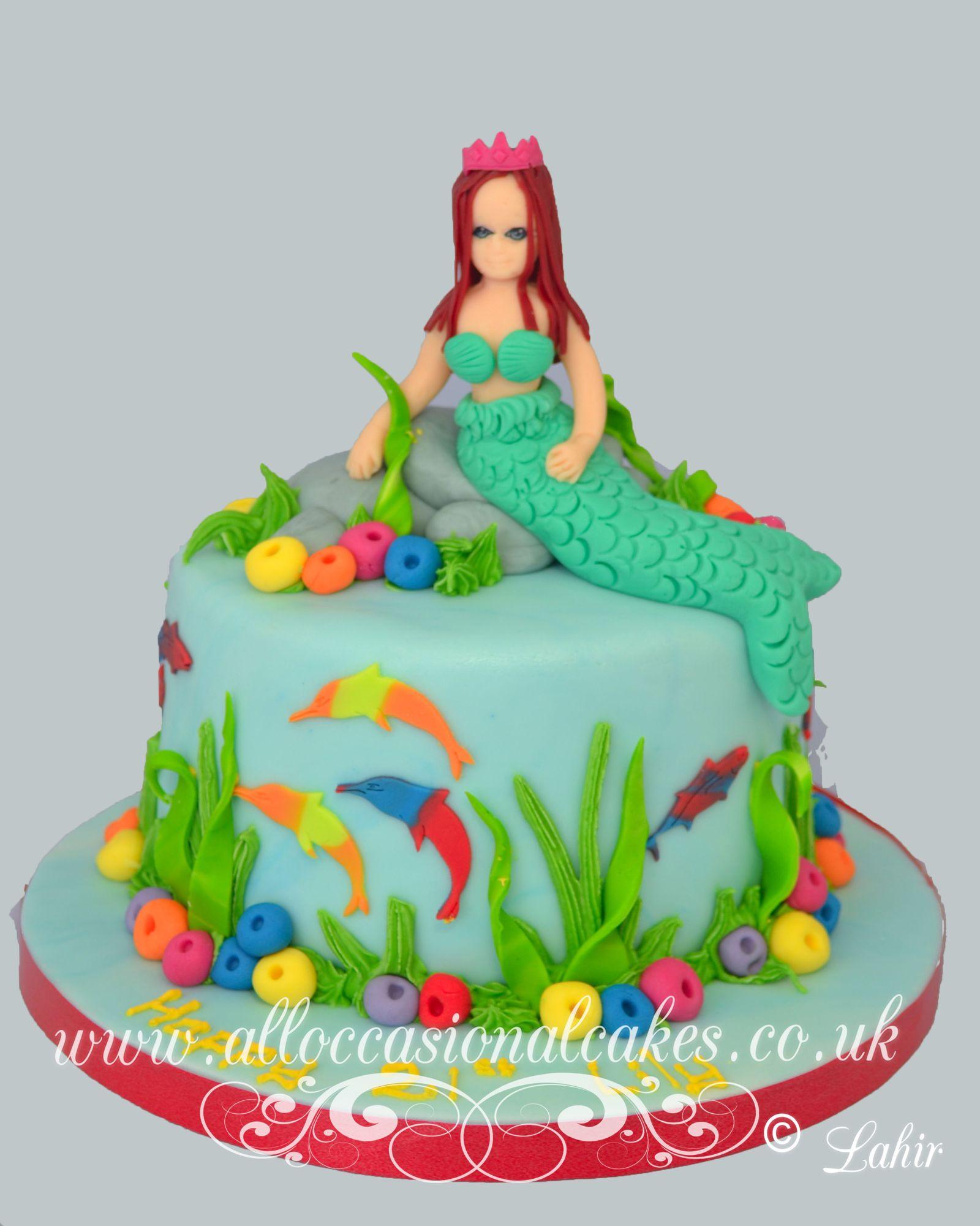 mermaid themed cake