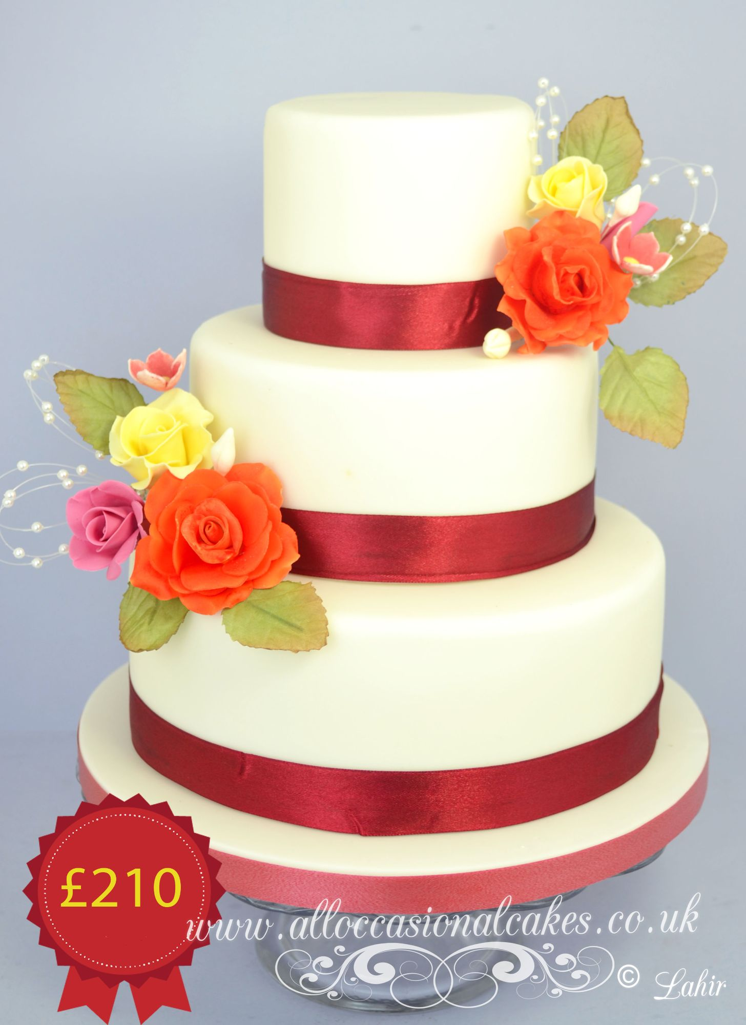 colourful wedding cakes