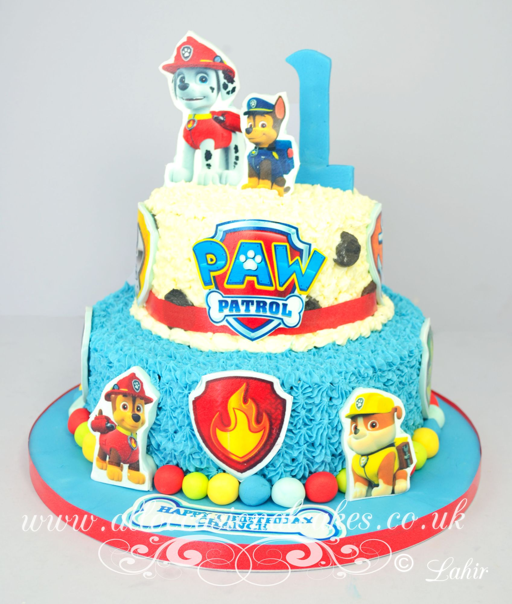 paw patrol theme birthday cake