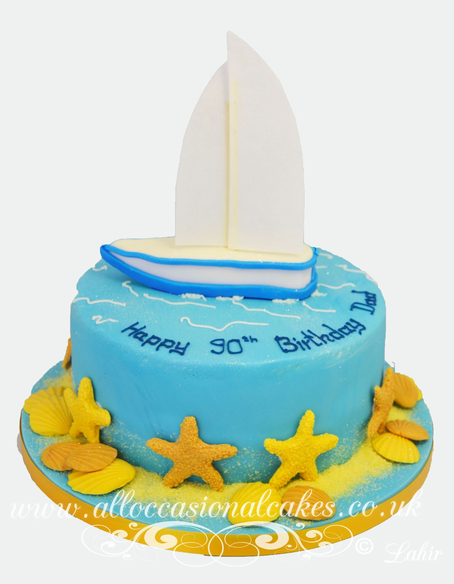 sailboat  birthday cake
