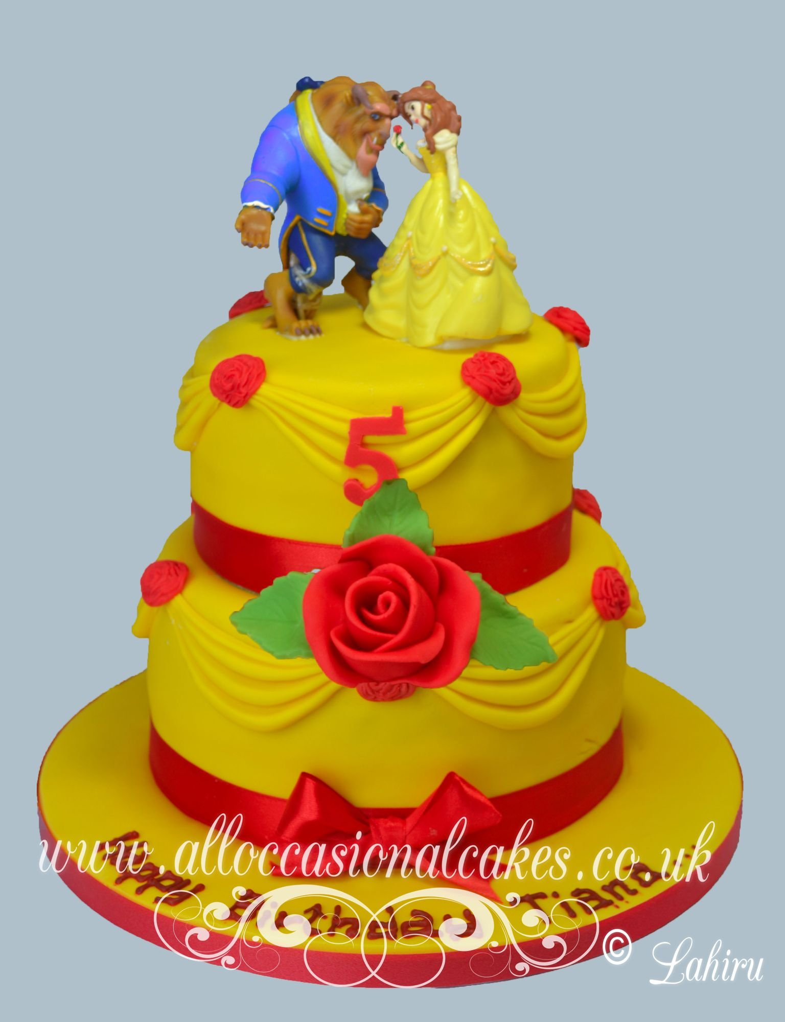 beauty and the beast cake 3