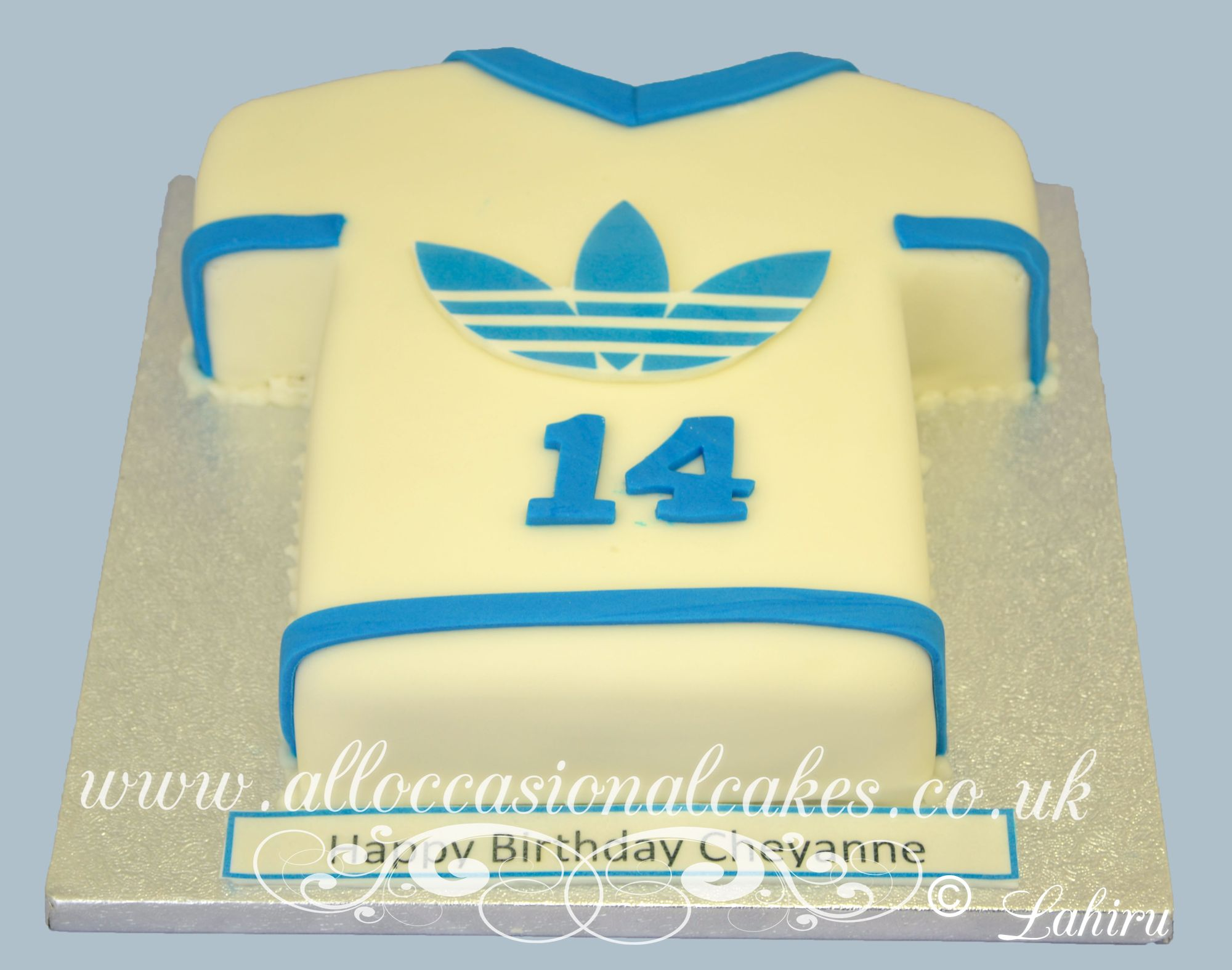 Adidas  t shirt birthday cake
