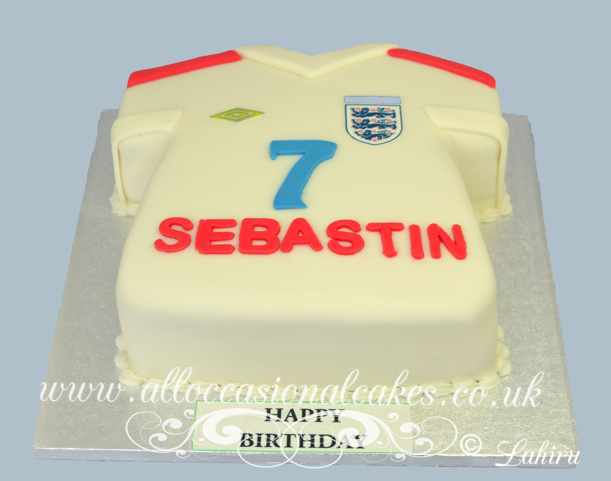 england football shirt cake