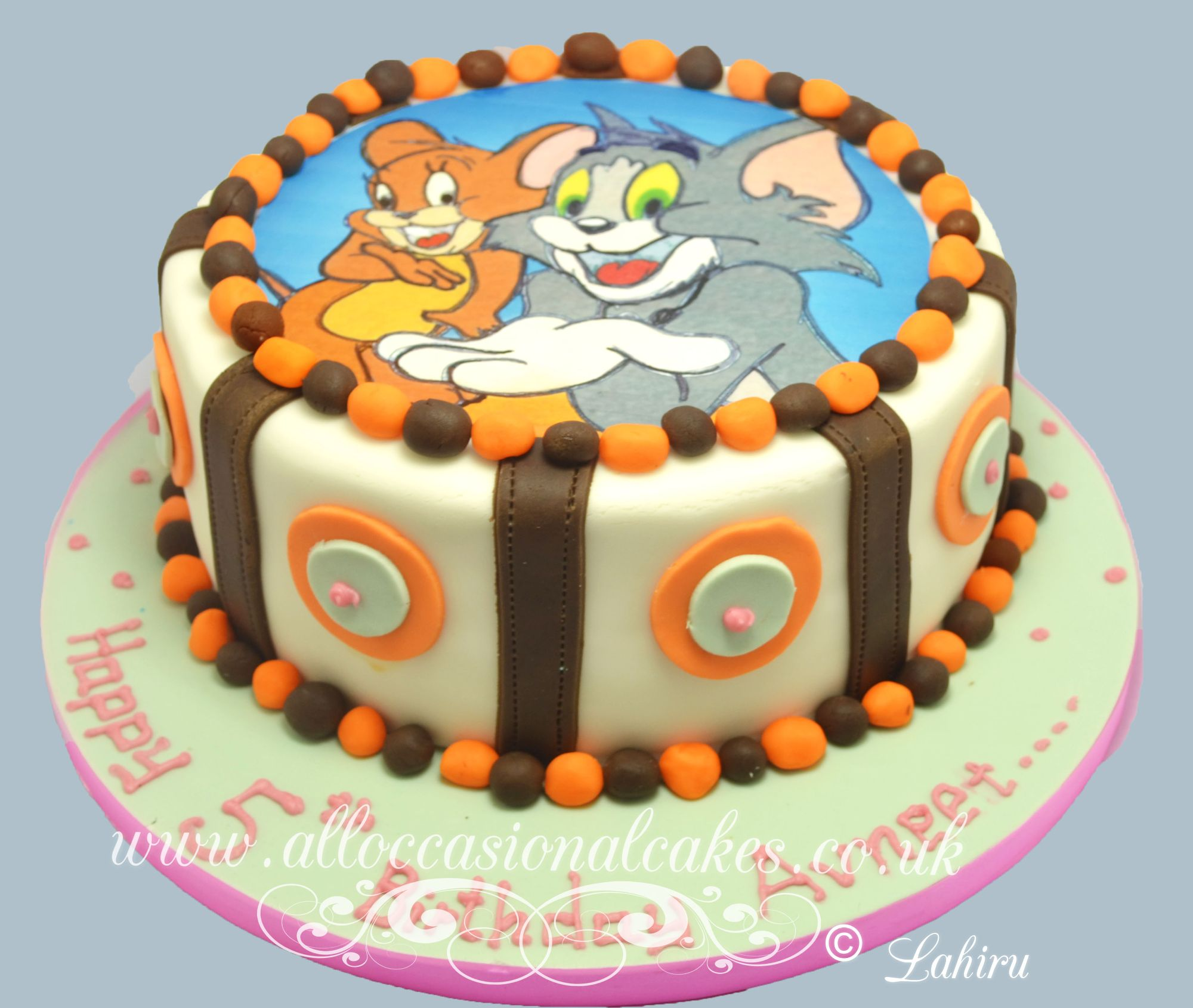 tom and jerry edible picture birthday cake