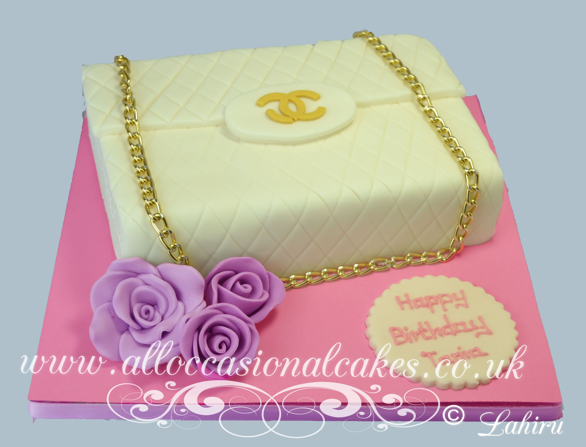 chanel handbags birthday cake