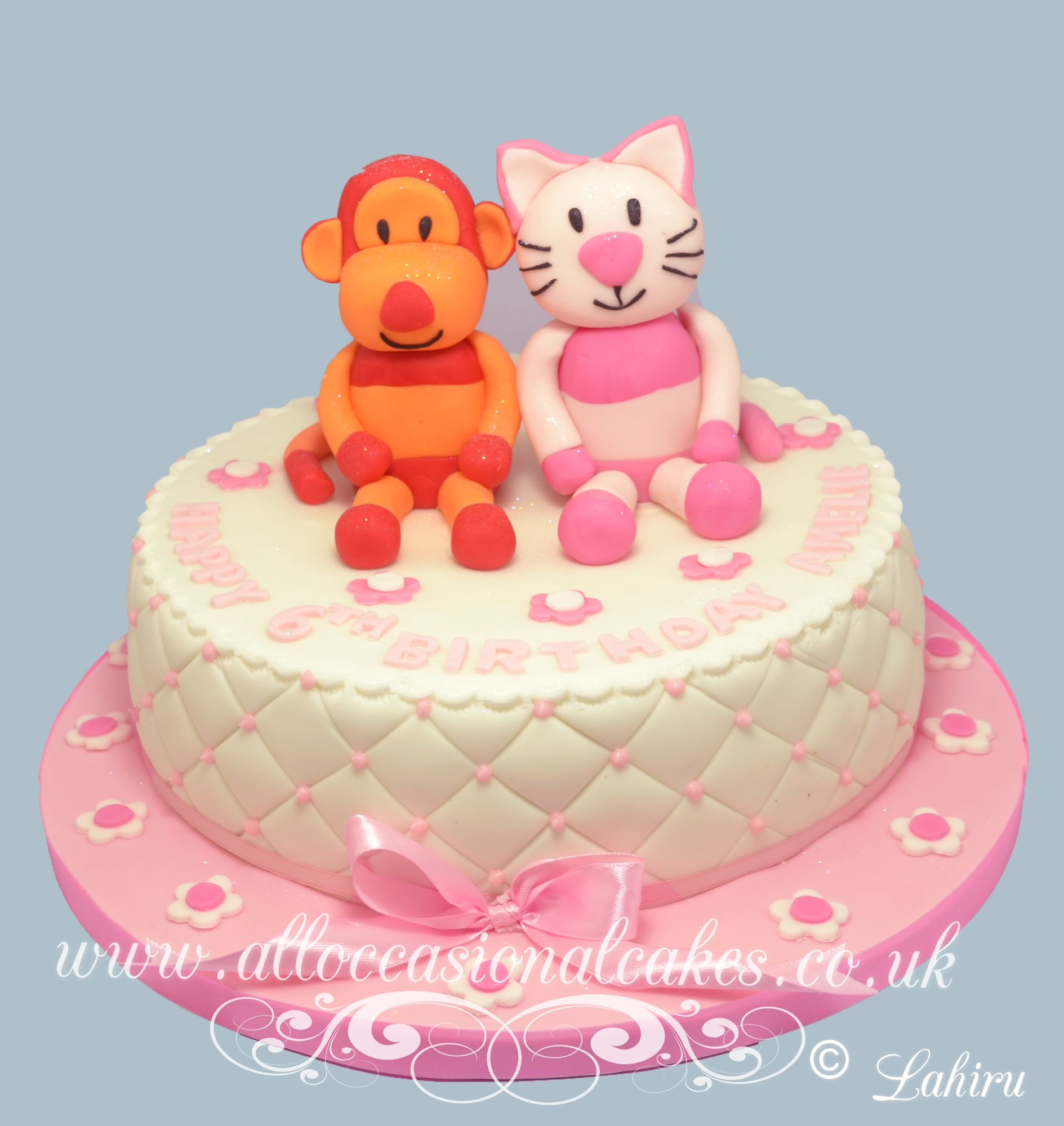 cat and monkey cake