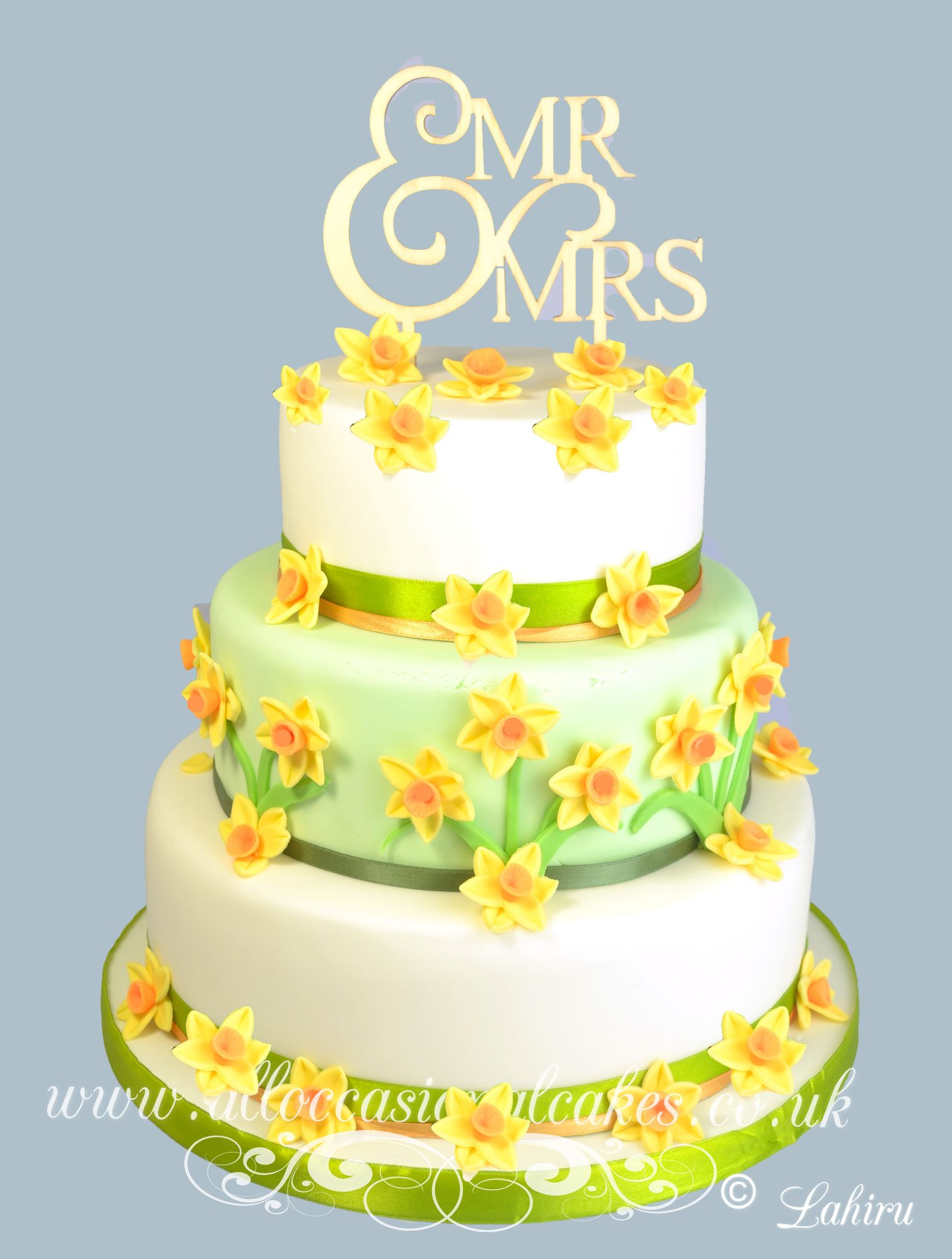 Daffodil wedding cakecake