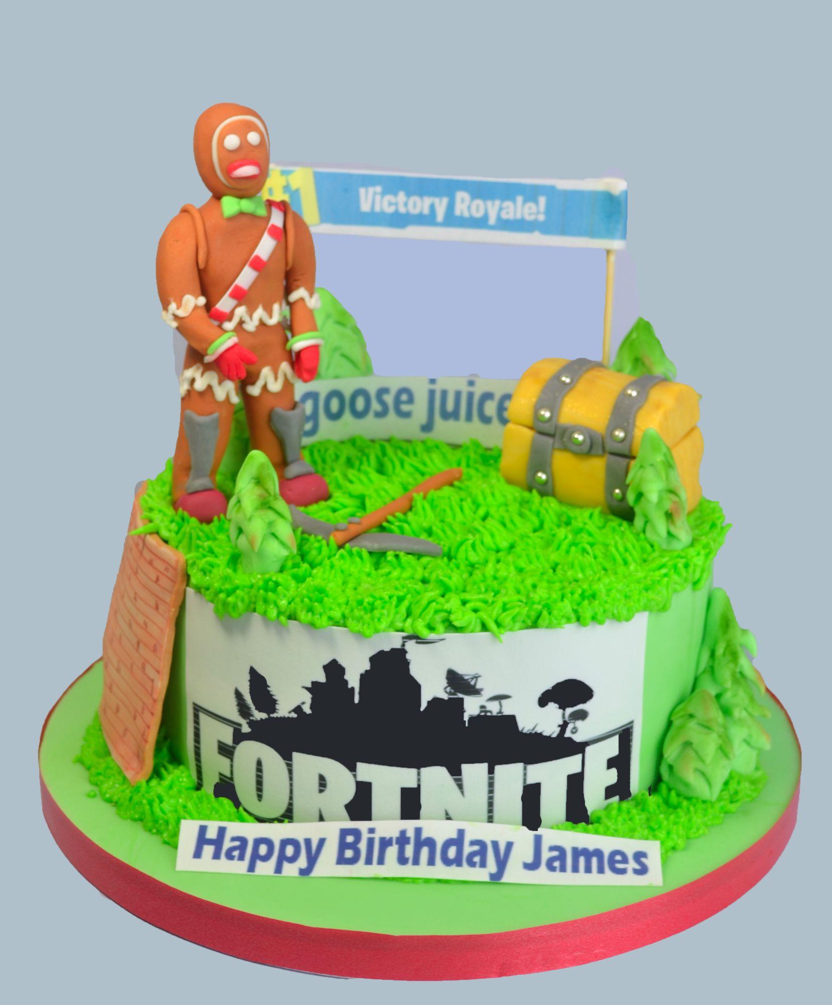 fortnite game themed birthday cake
