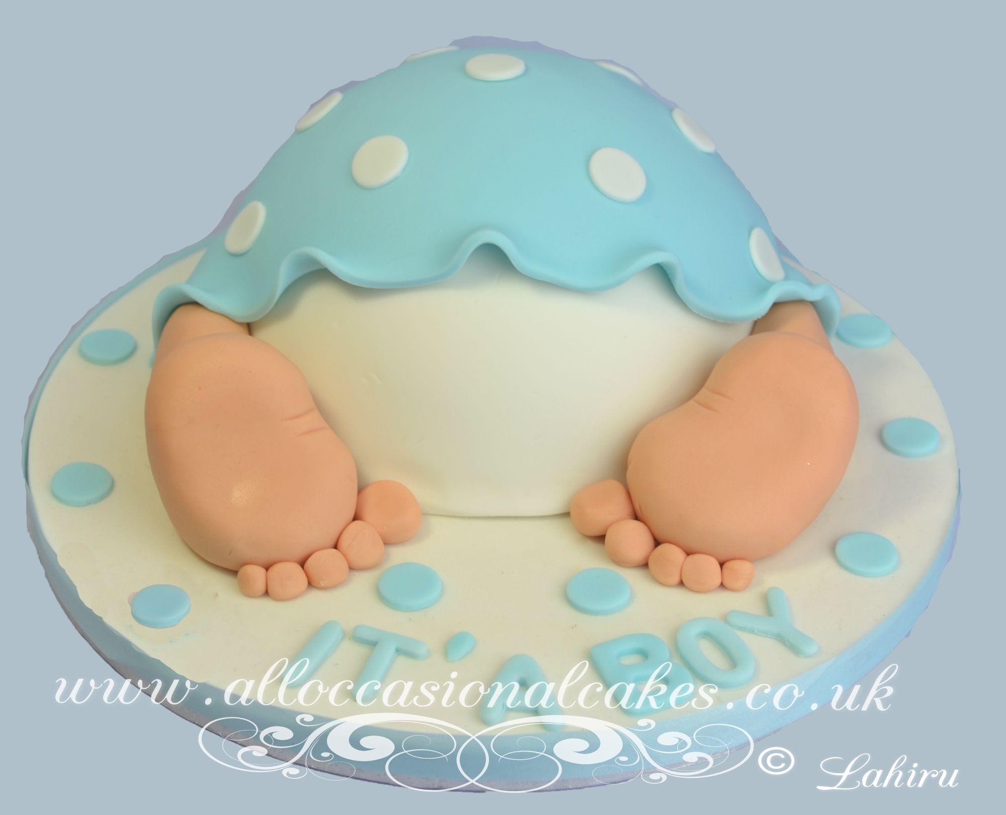 baby boy bum cake