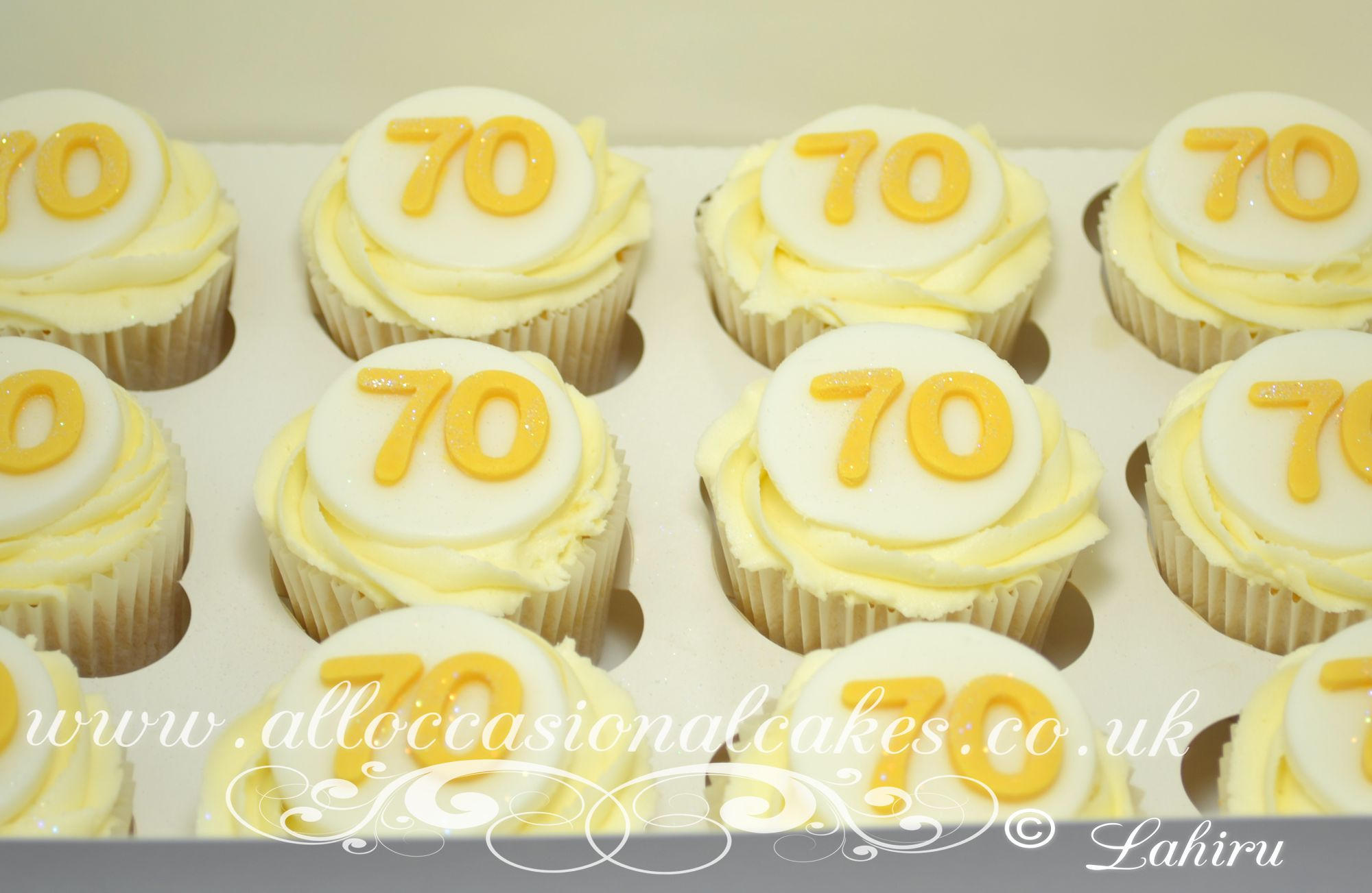 70 th birthday cupcakes