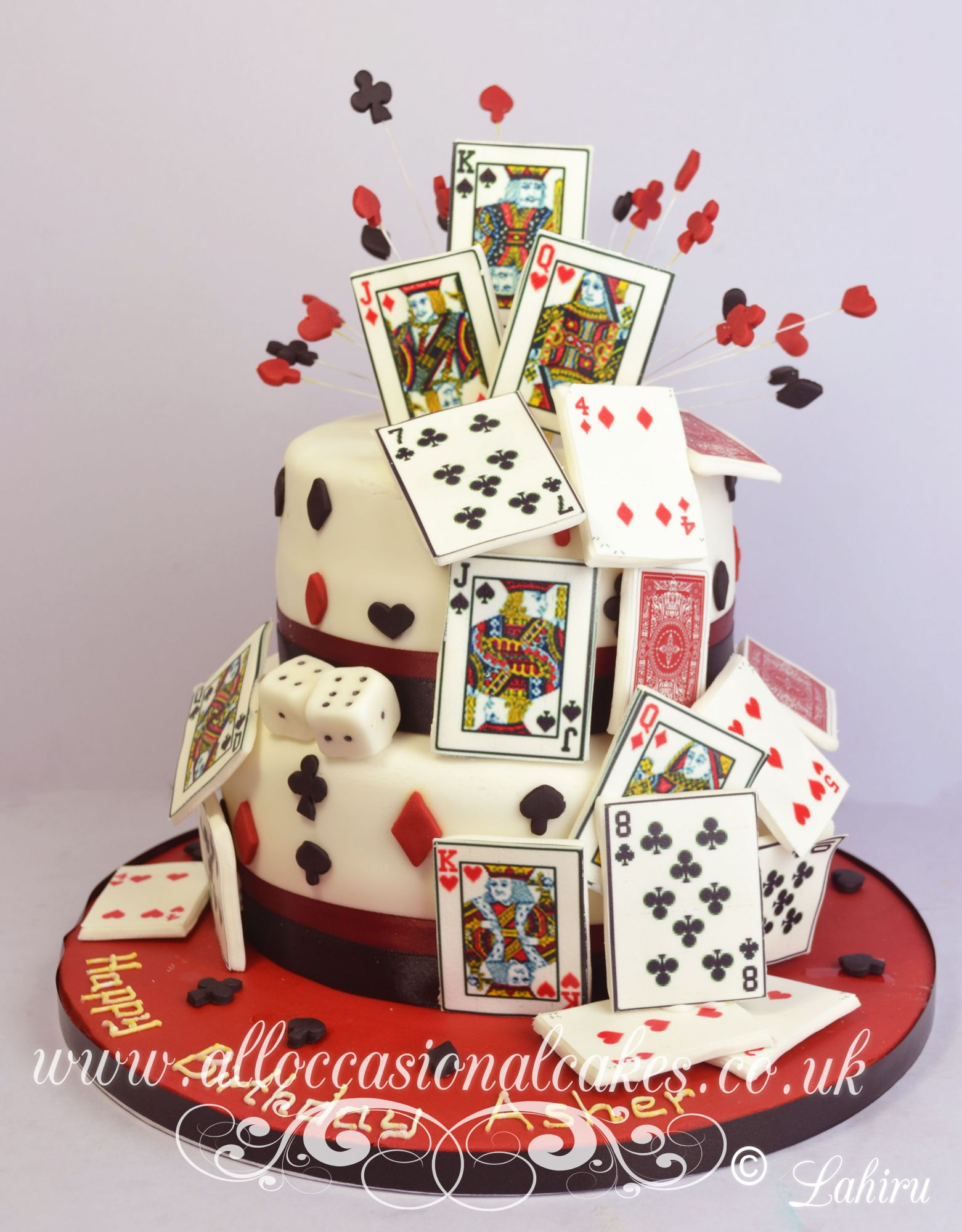 bridge card game birthday cake