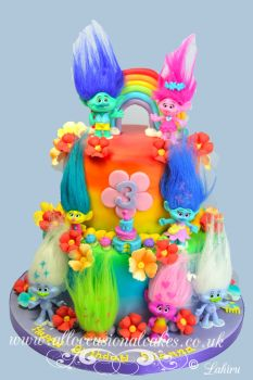 Rainbow Colour Troll Cake