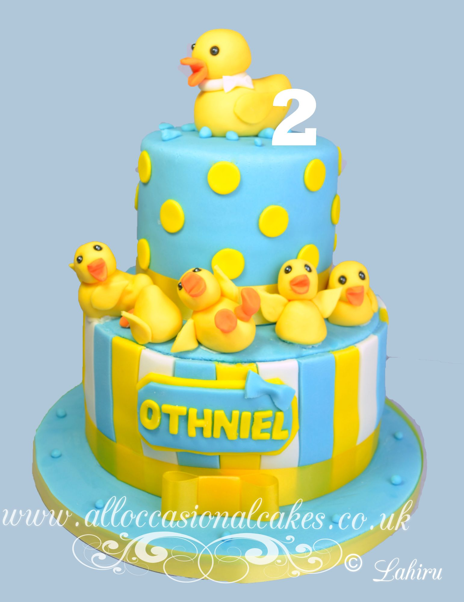duck themed birthday cake