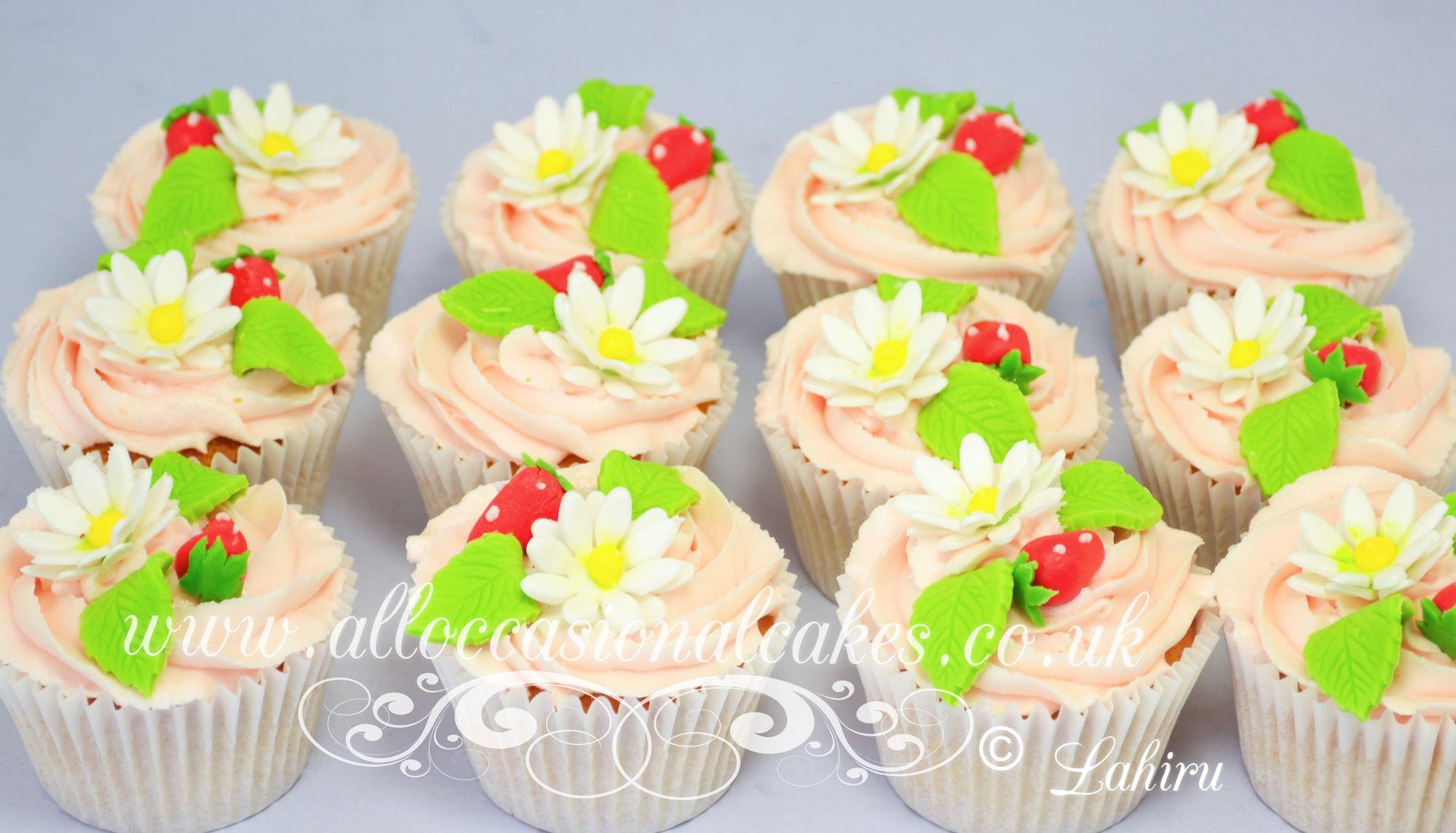 sugar strawberries cupcak