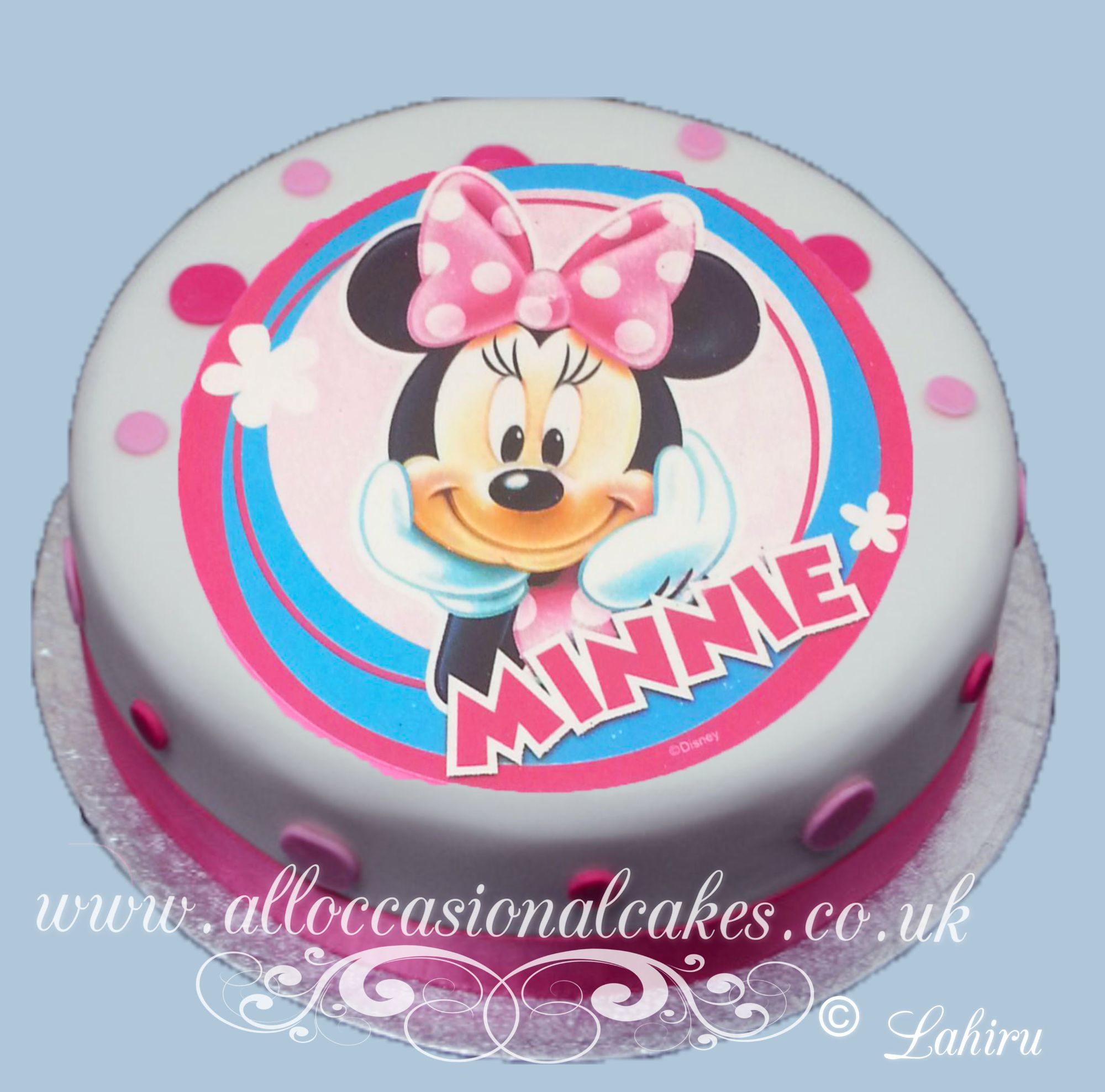 minnie mouse  edible picture birthday cake
