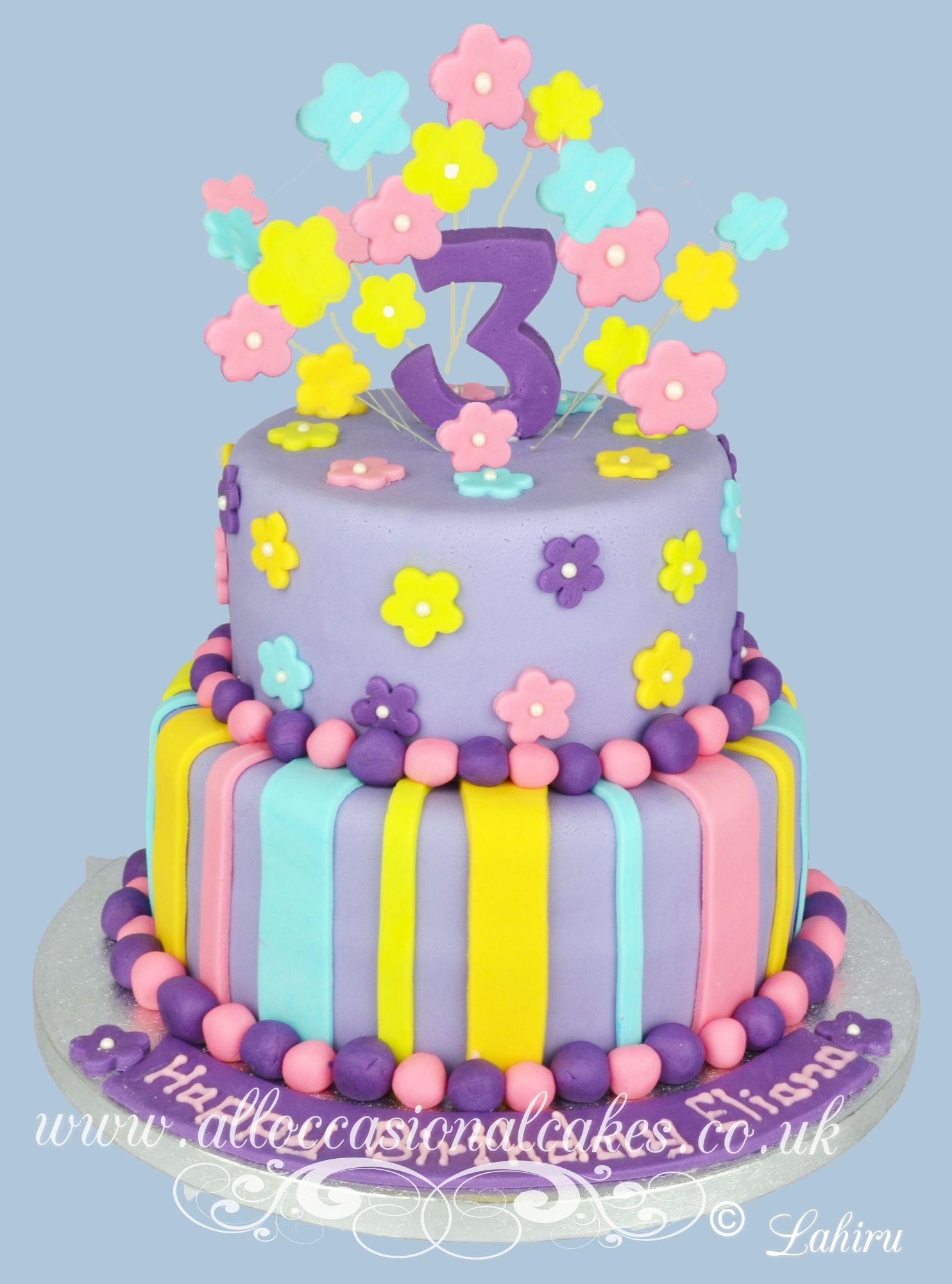 flower cake topper  birthday cake