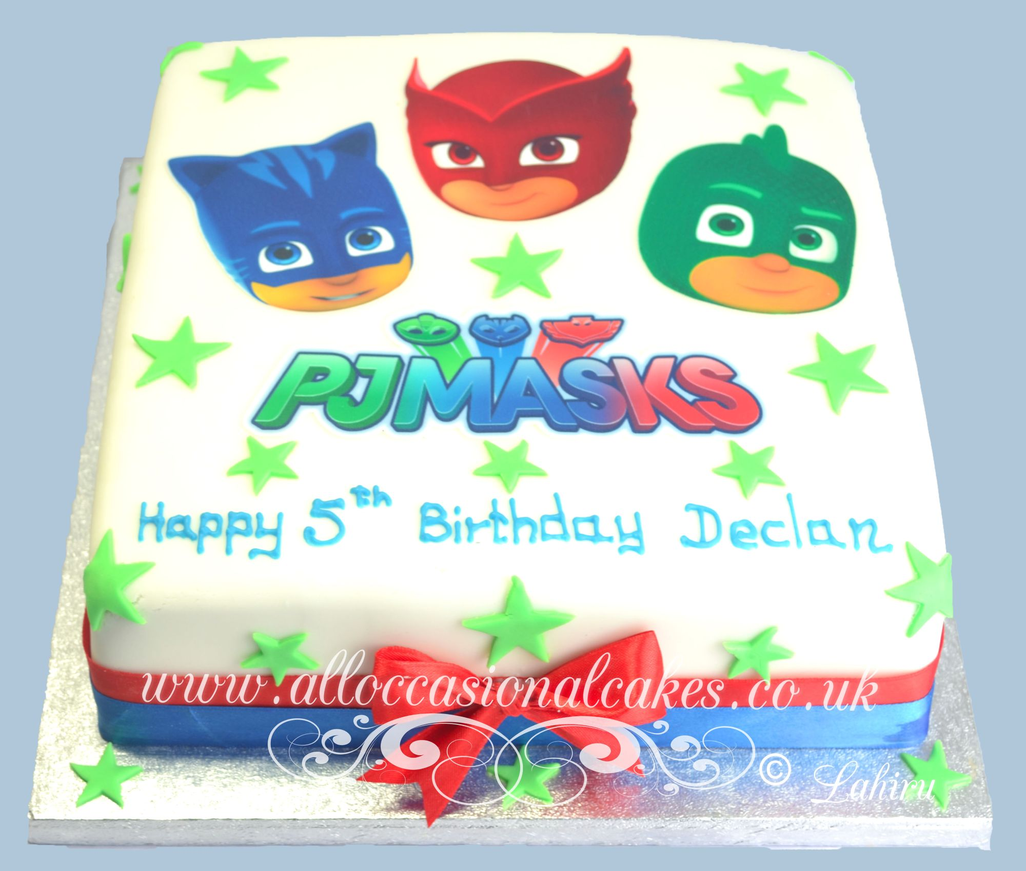 pj mask edible picture birthday cake