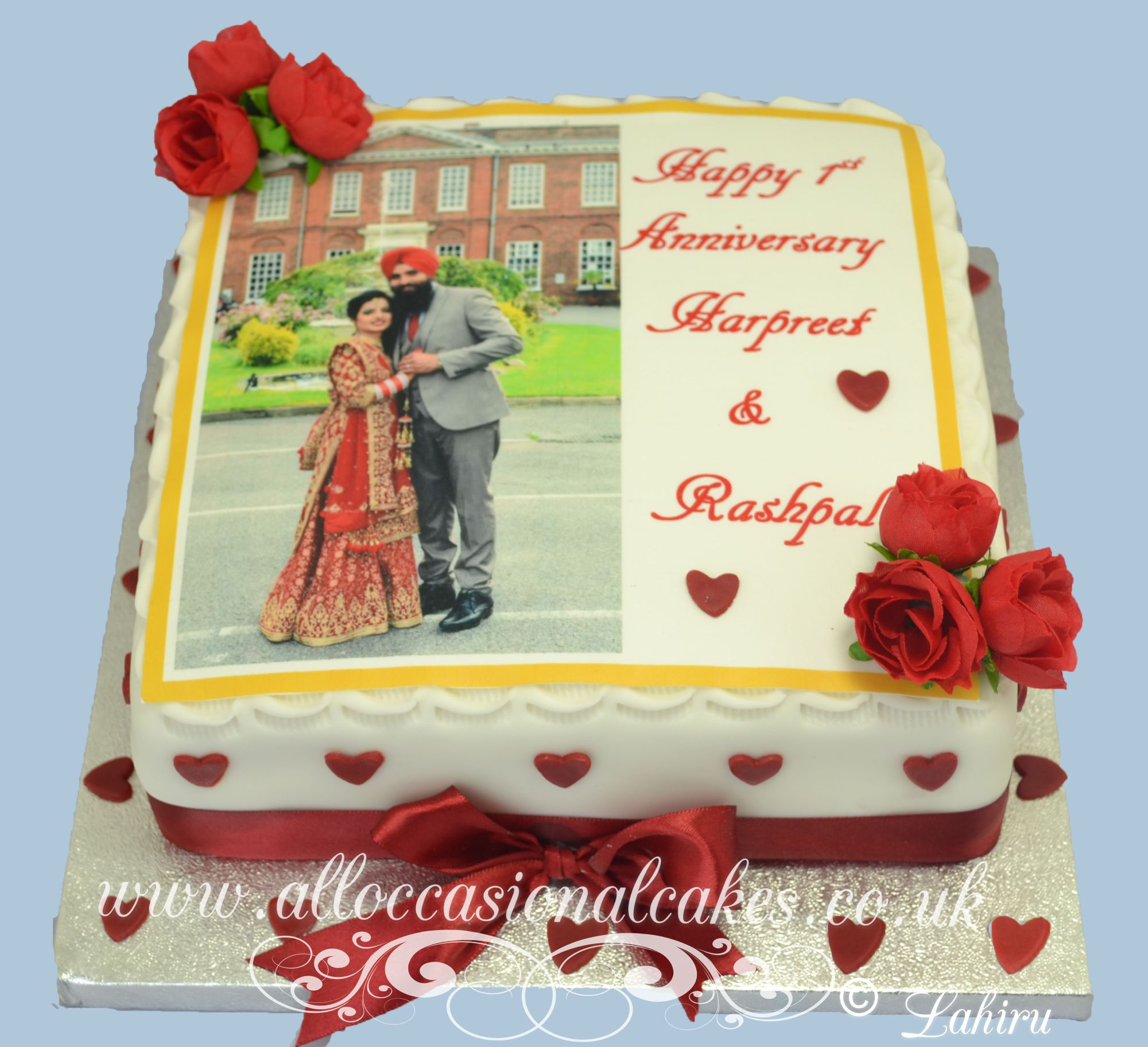 edible picture ruby anniversary cake