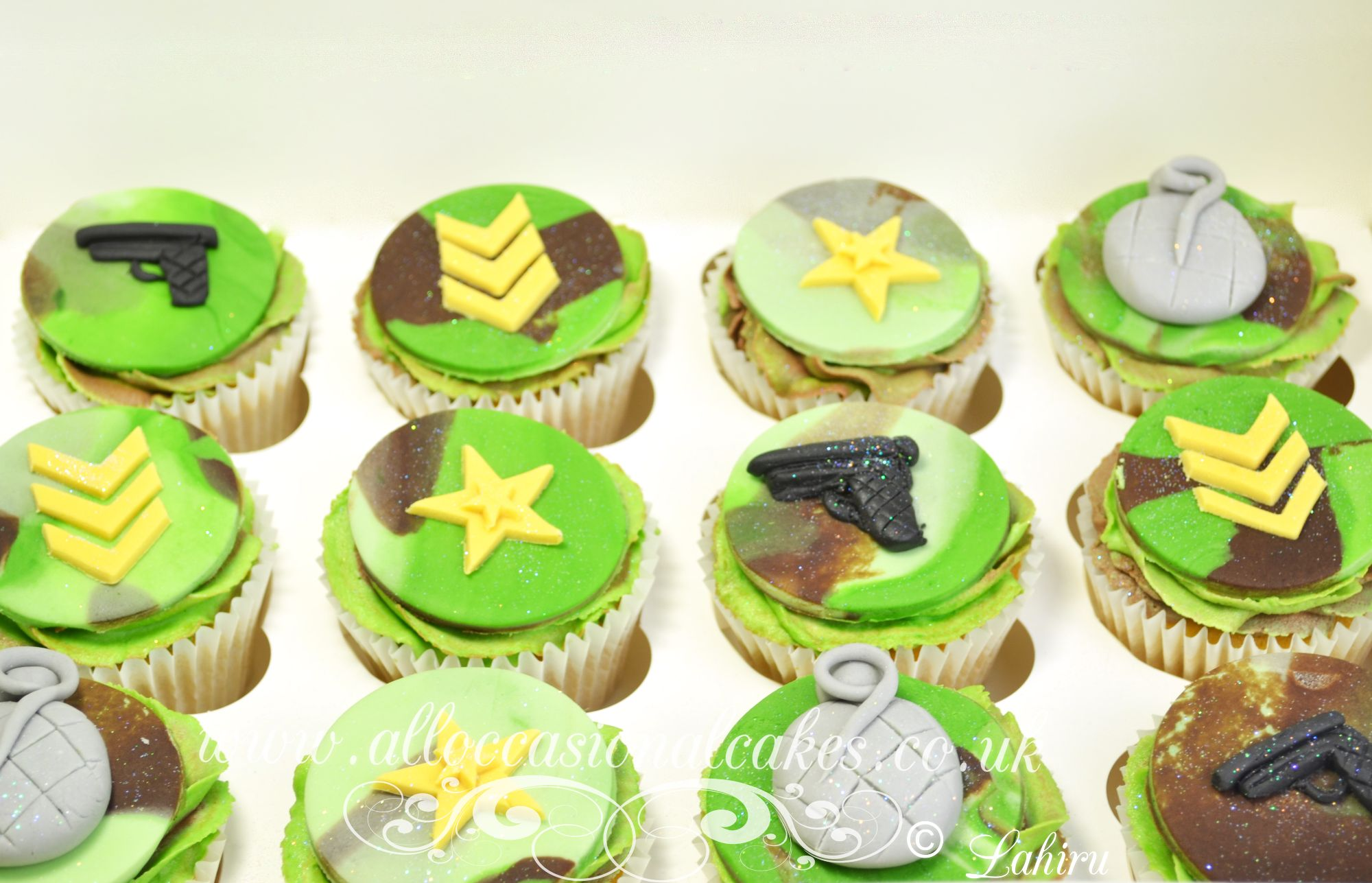 army themed sugar toppers