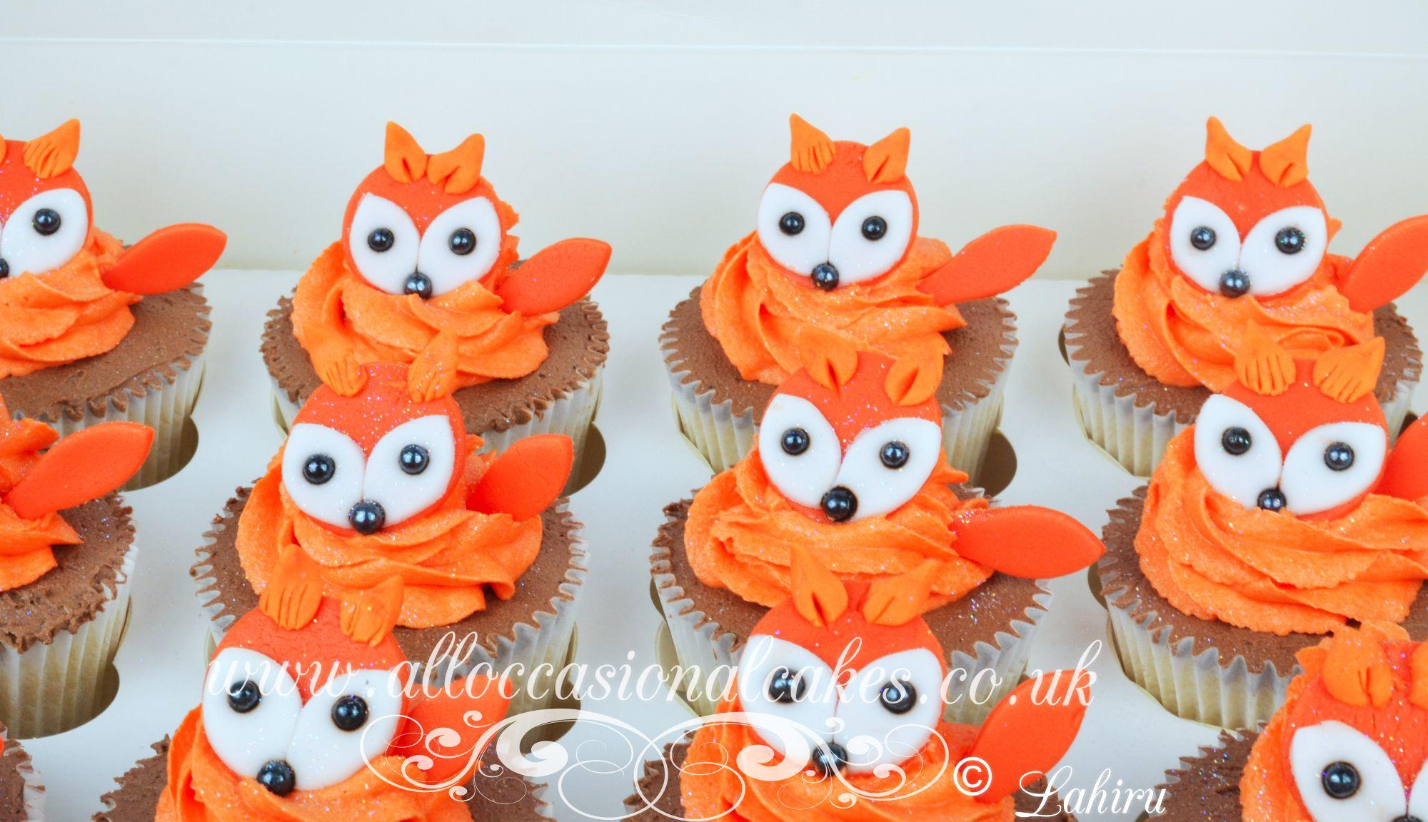 fox chocolate cupcakes